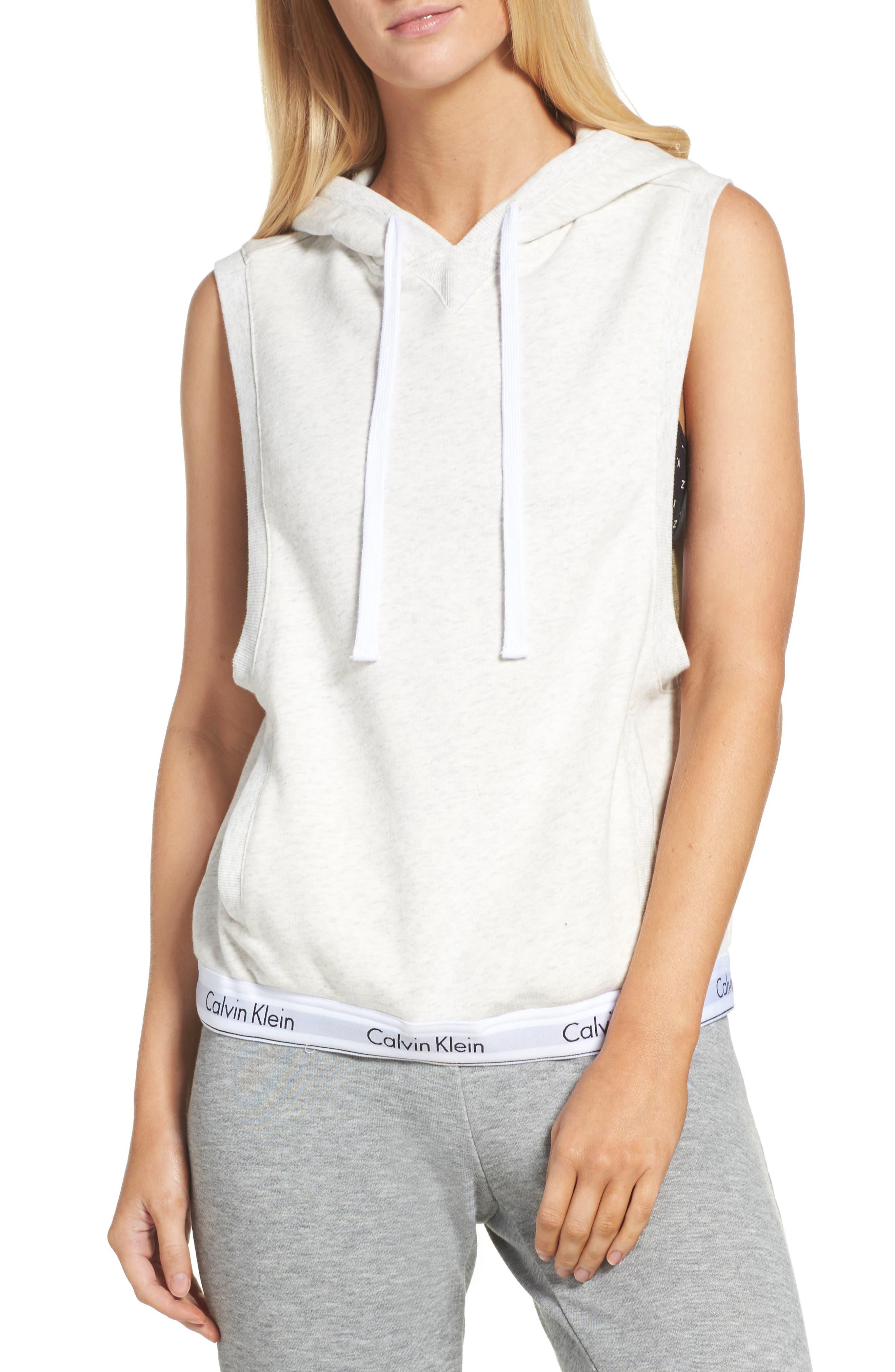 Main Image - Calvin Klein Sleeveless Lounge Hoodie