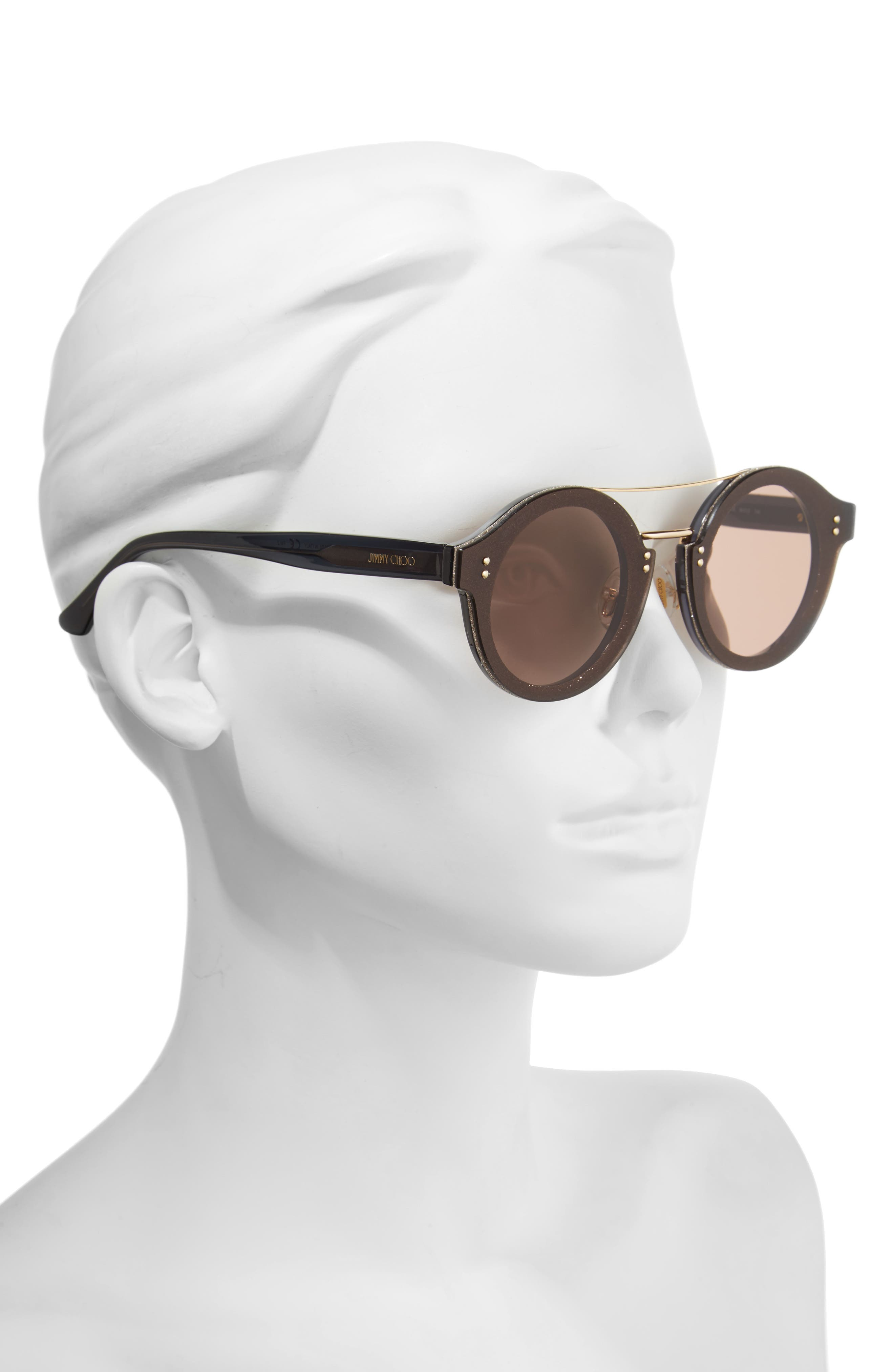 Alternate Image 2  - Jimmy Choo Monties 64mm Round Sunglasses