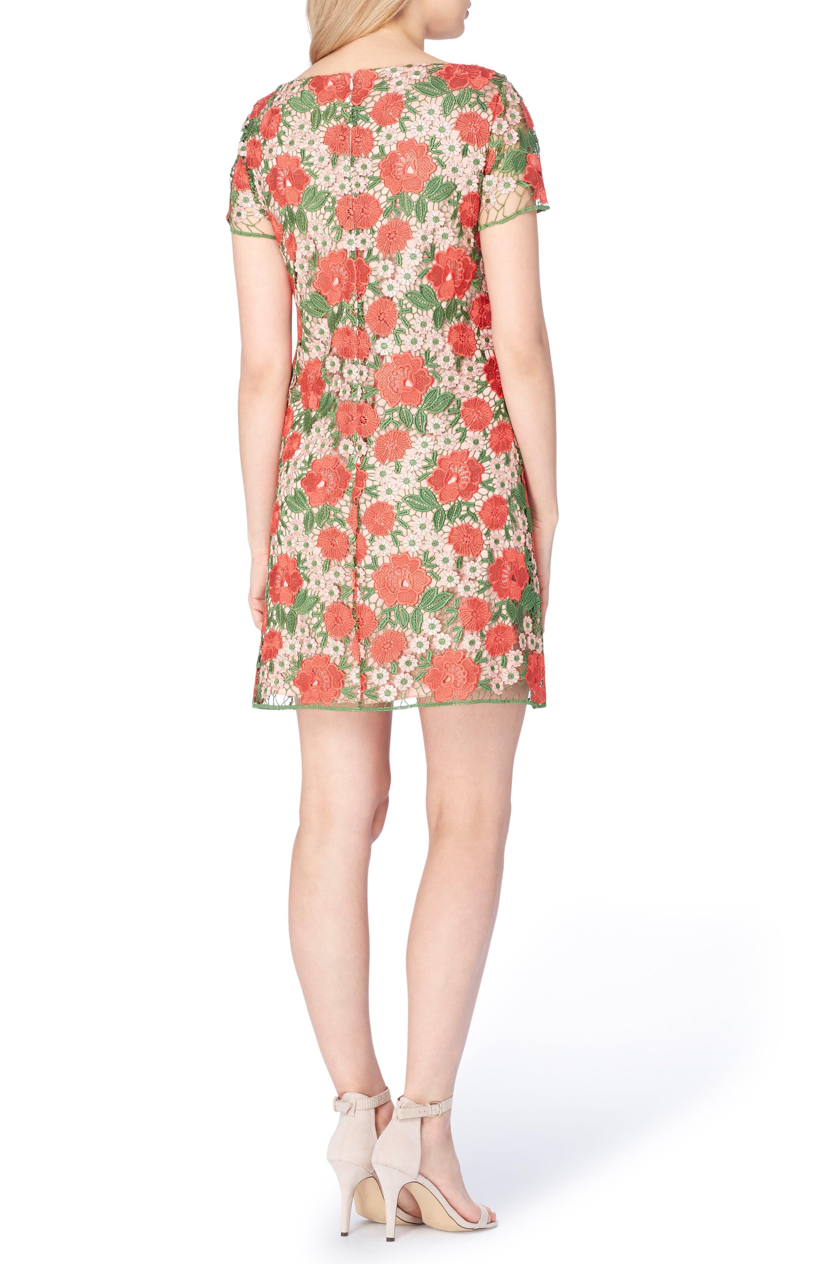 Alternate Image 2  - Tahari Floral Lace Shift Dress (Regular & Petite)