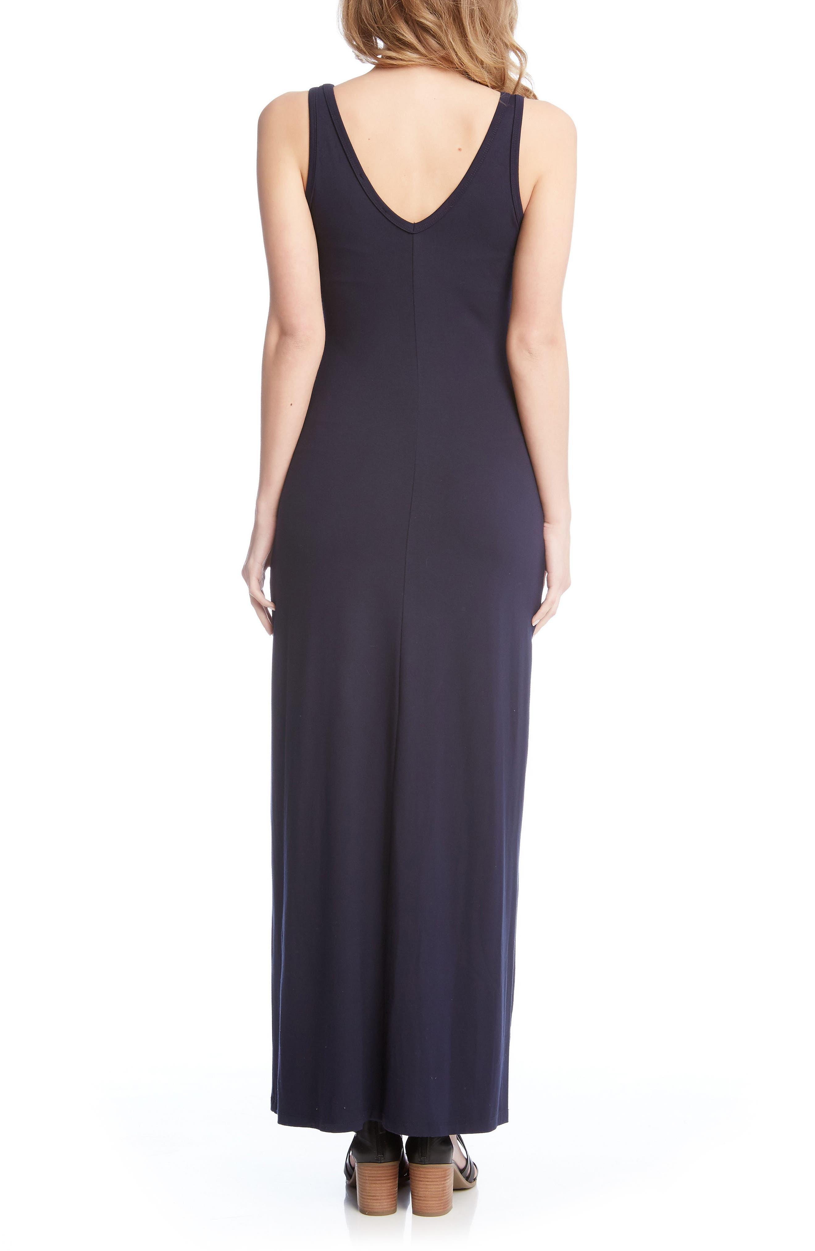Alana Jersey Maxi Dress,                             Alternate thumbnail 2, color,                             Navy