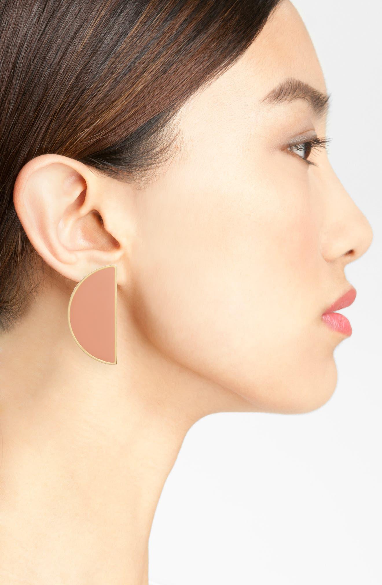 Alternate Image 2  - Madewell Half Moon Earrings