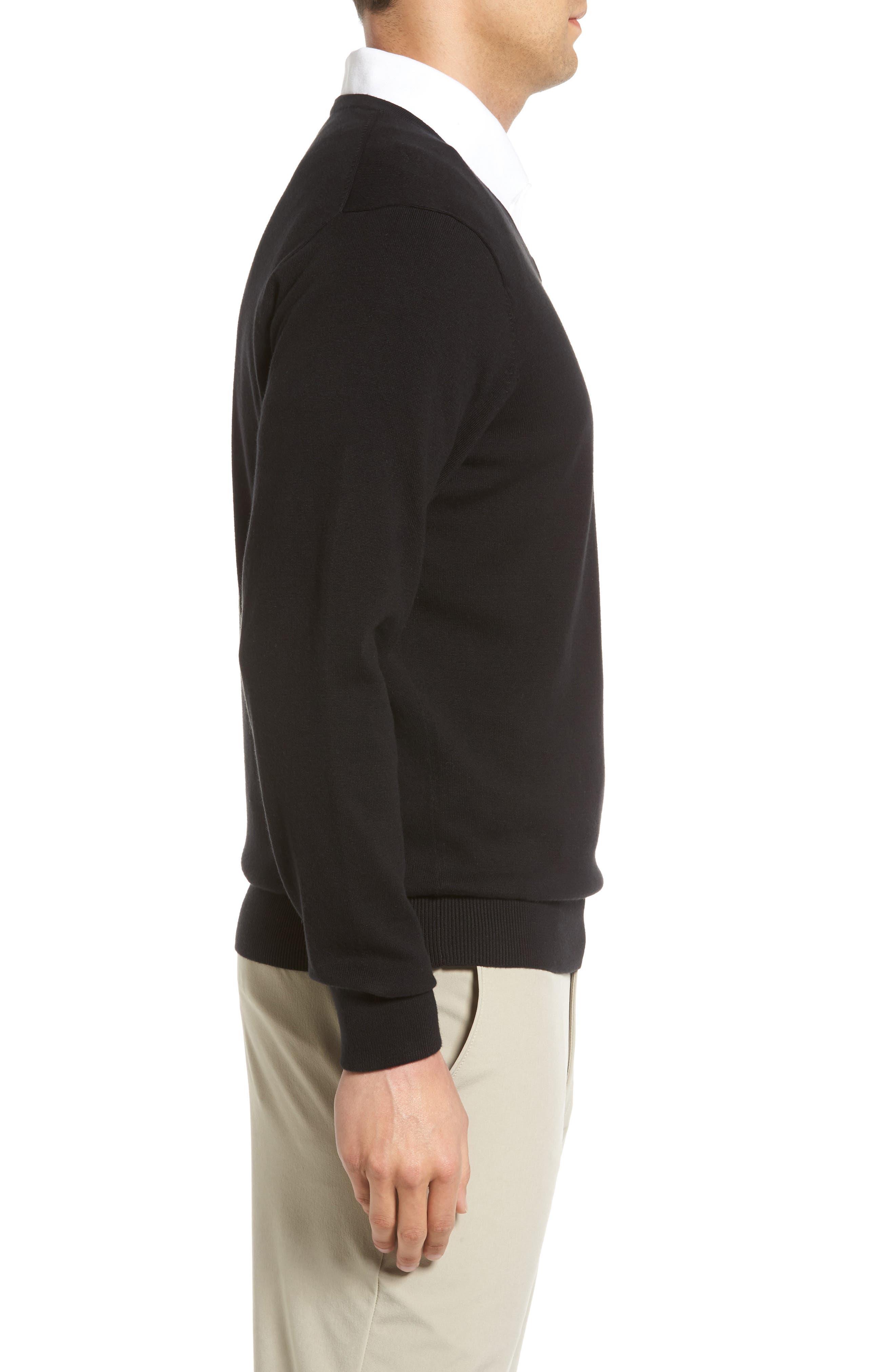Lakemont V-Neck Sweater,                             Alternate thumbnail 3, color,                             Black