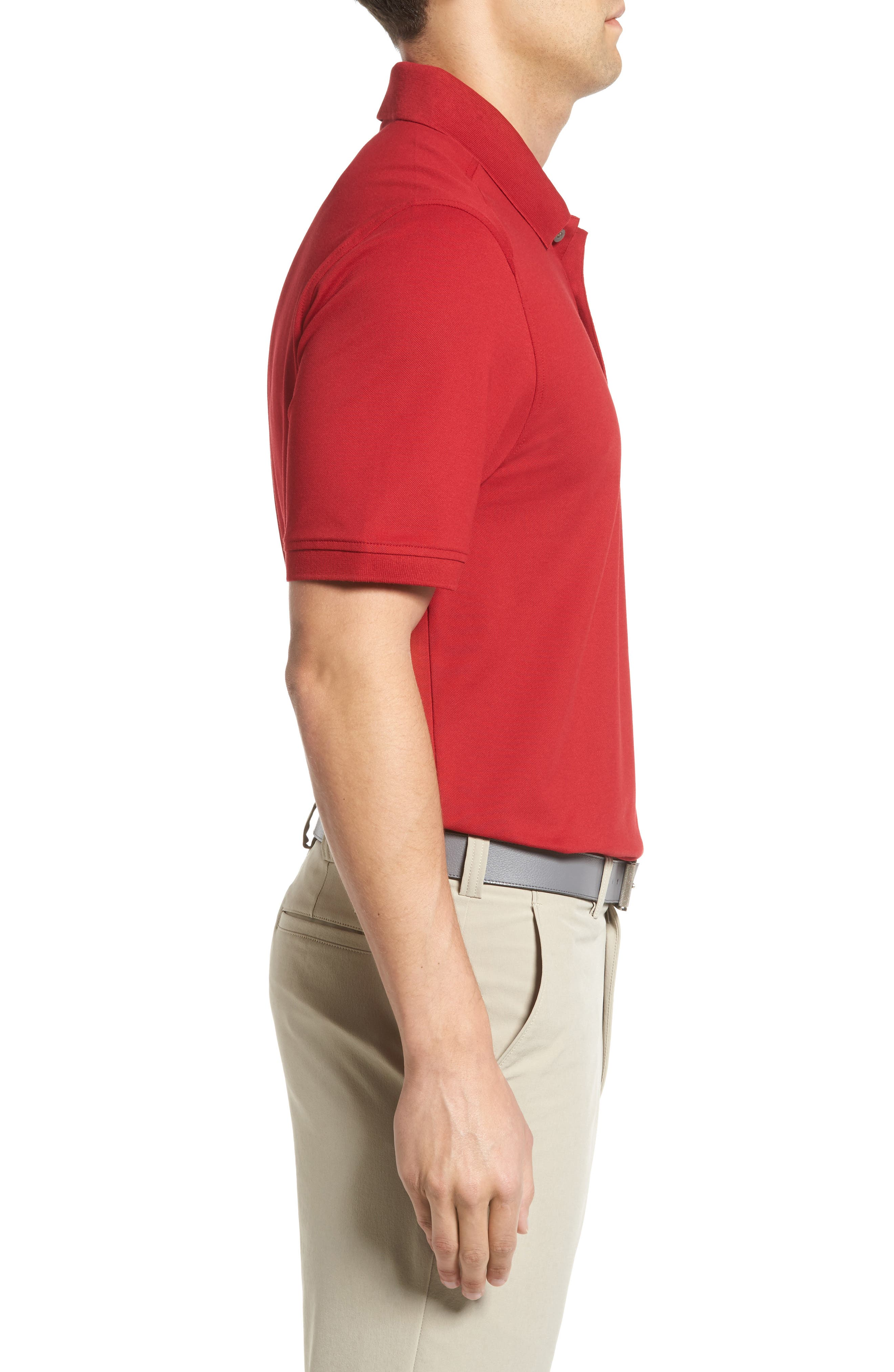 Advantage Golf Polo,                             Alternate thumbnail 3, color,                             Card Red