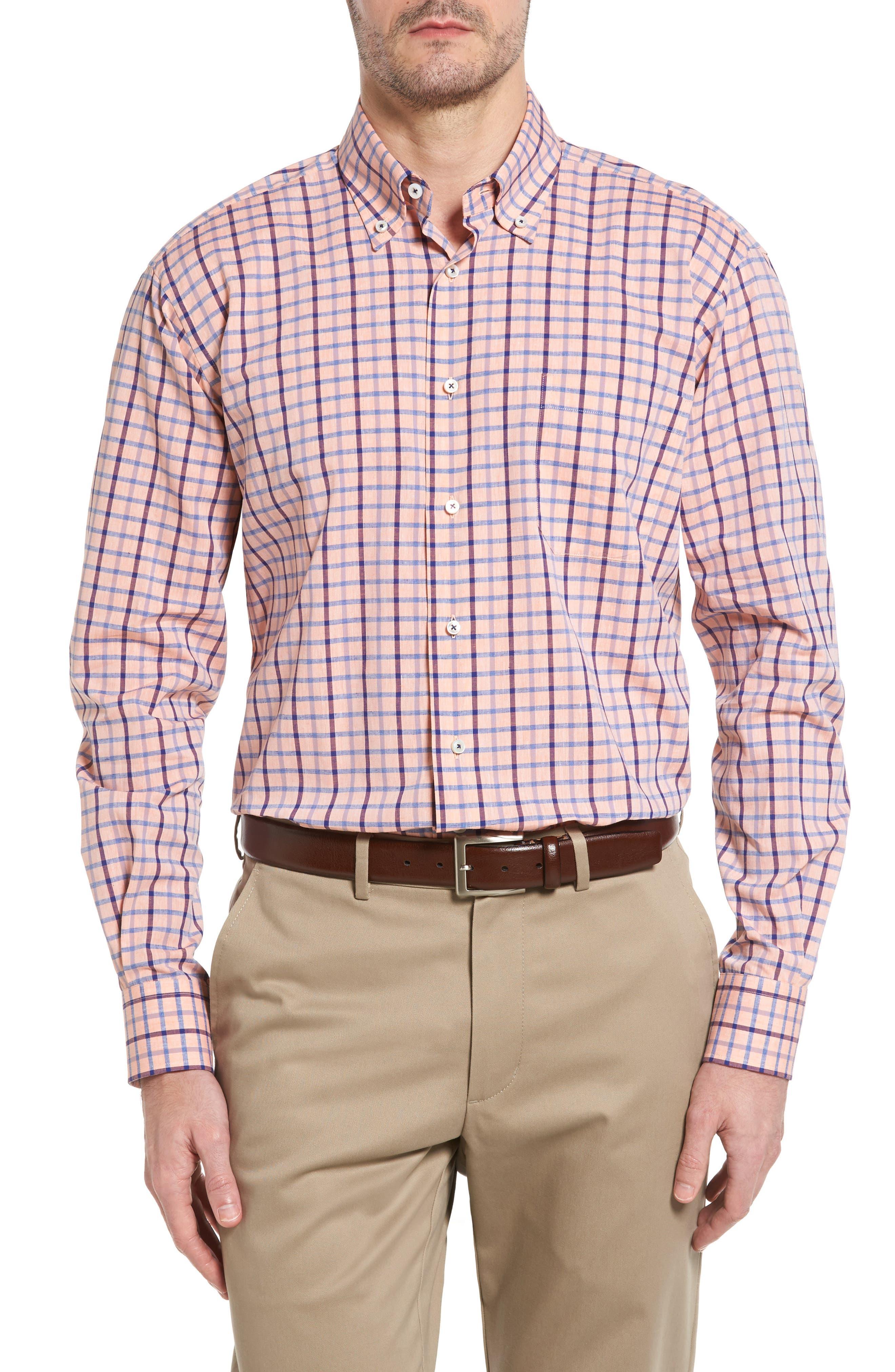 Estate Classic Fit Sport Shirt,                         Main,                         color, Papaya
