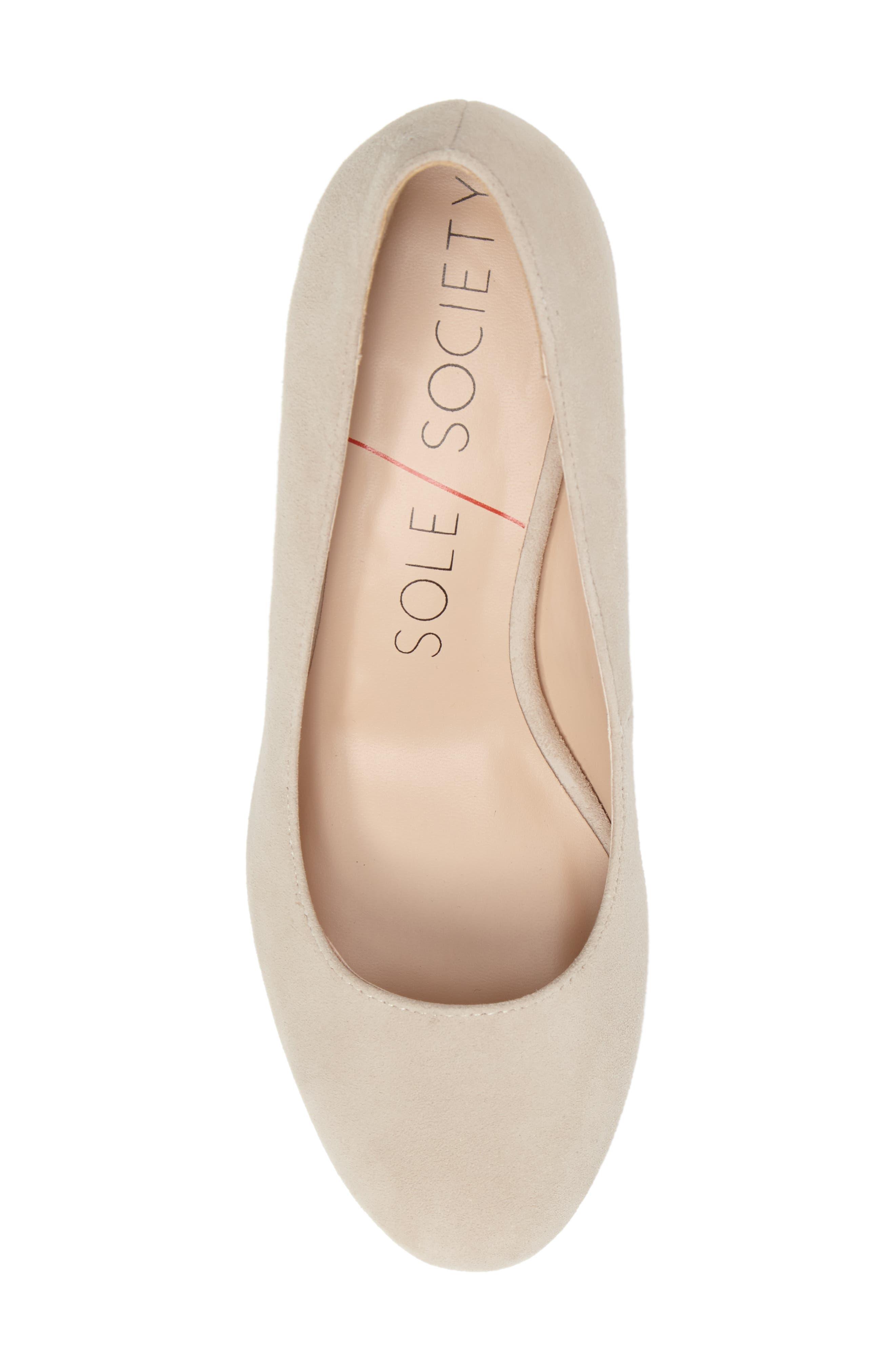 Alternate Image 4  - Sole Society Lola Block Heel Pump (Women)