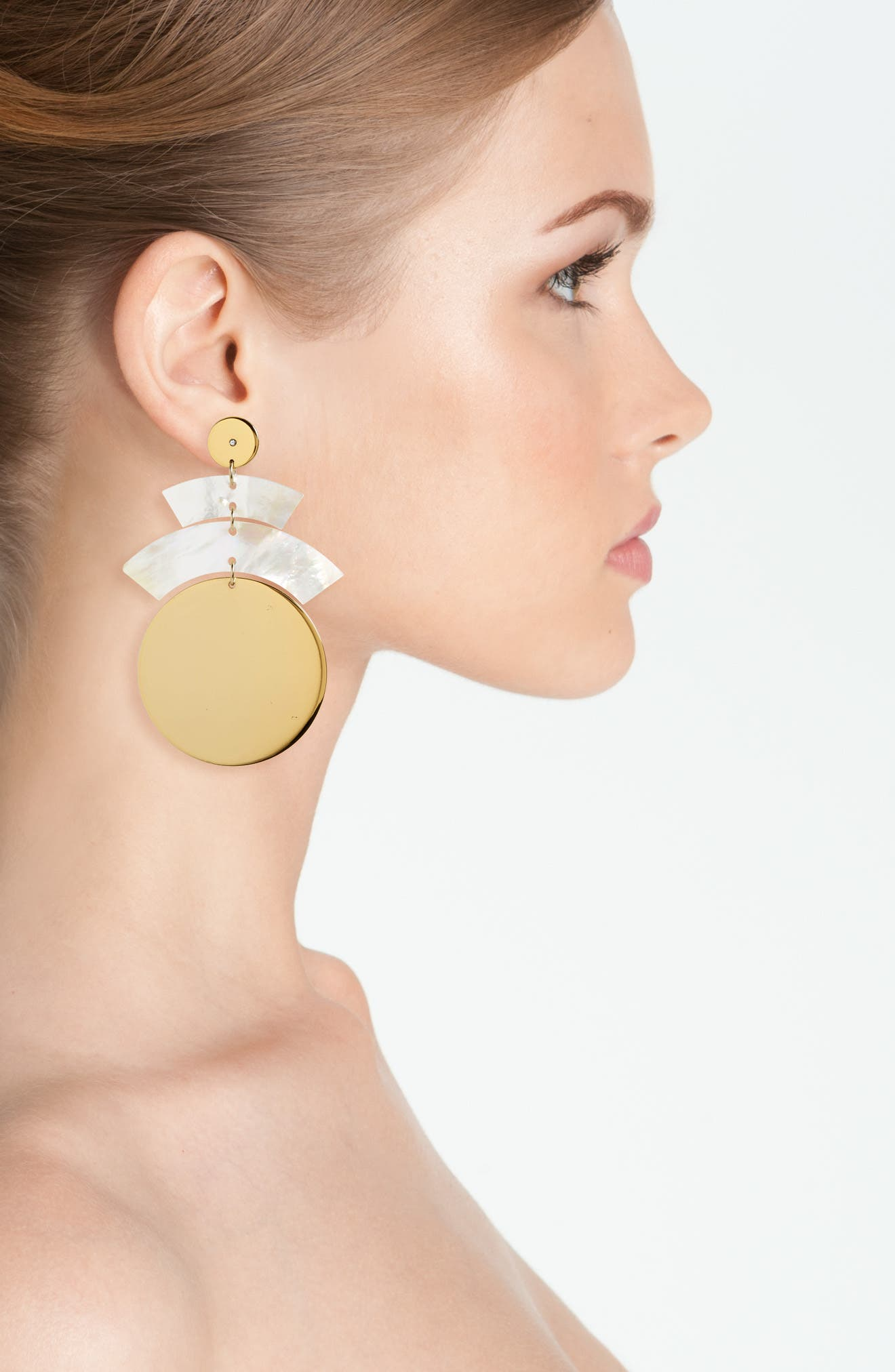 Rosa Terri Drop Earrings,                             Alternate thumbnail 2, color,                             Mother Of Pearl / Gold