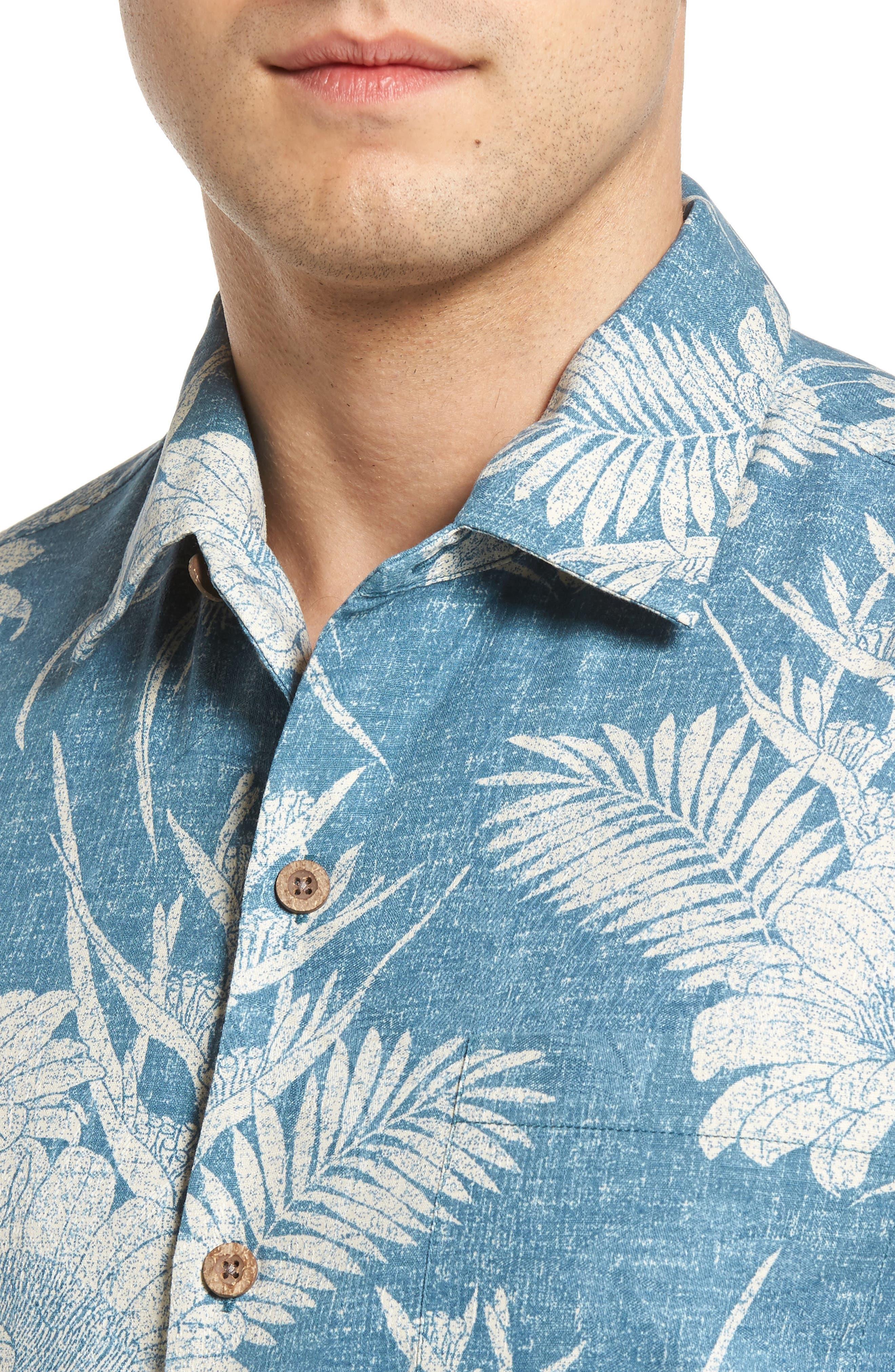 Alternate Image 4  - Tommy Bahama Sand Torini Blooms Standard Fit Silk Blend Camp Shirt