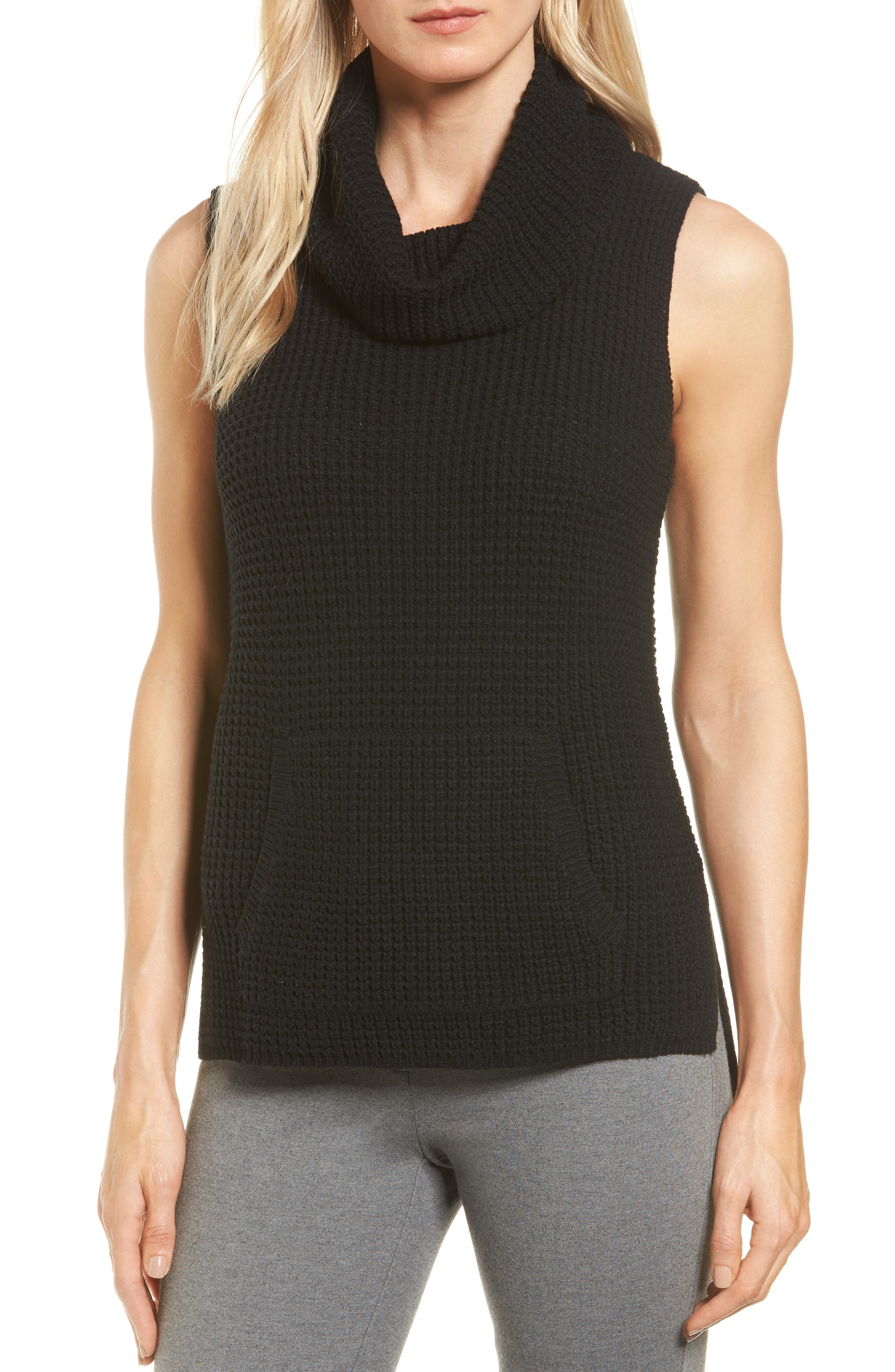 Two by Vince Camuto Waffle Stitch Vest (Regular & Petite)
