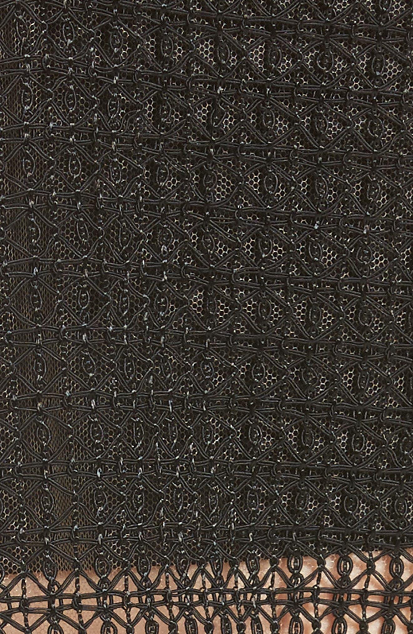 Geometric Lace Top,                             Alternate thumbnail 3, color,                             Onyx