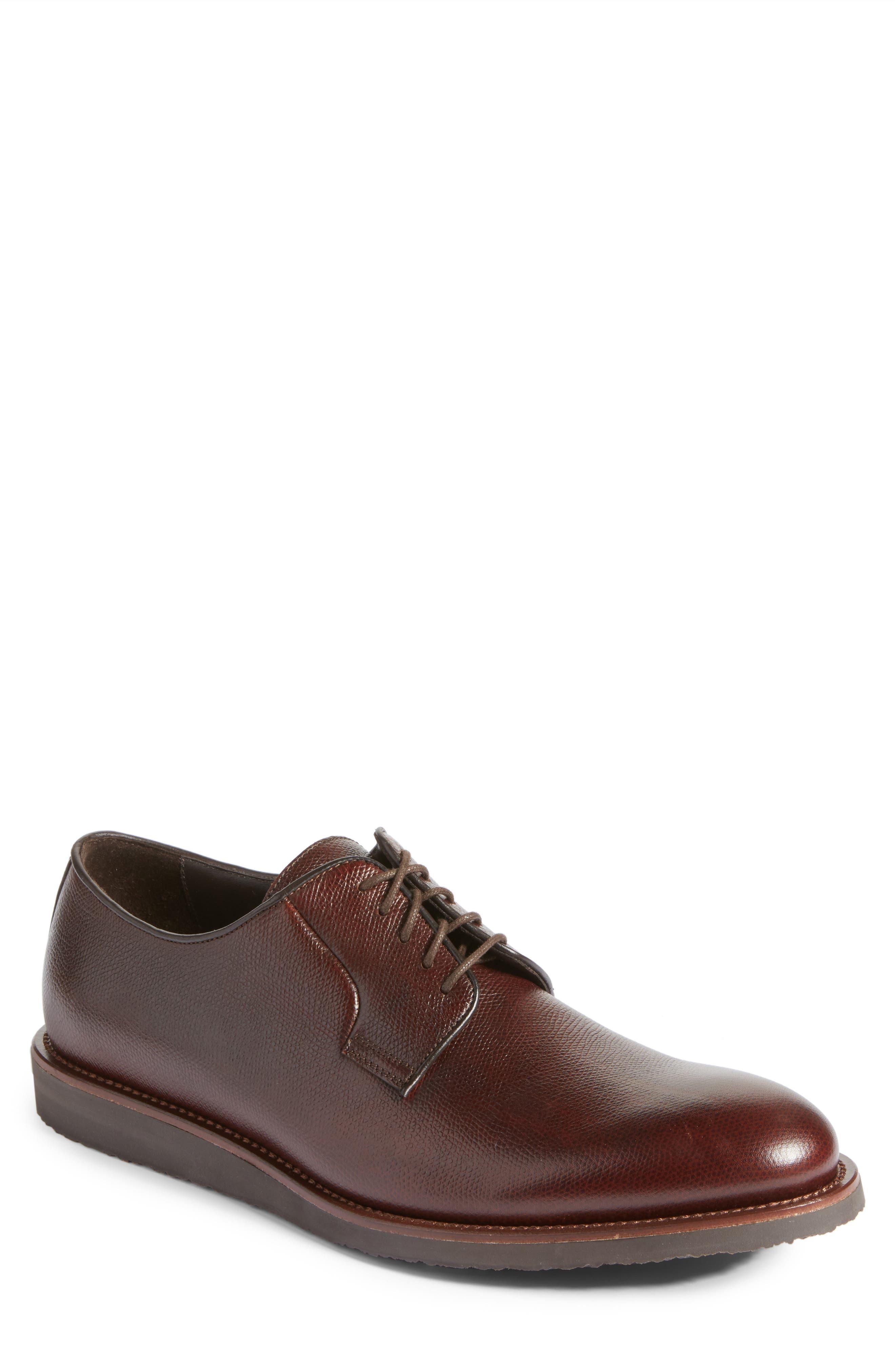 Samuel Plain-Toe Derby,                             Main thumbnail 1, color,                             Tronco Leather