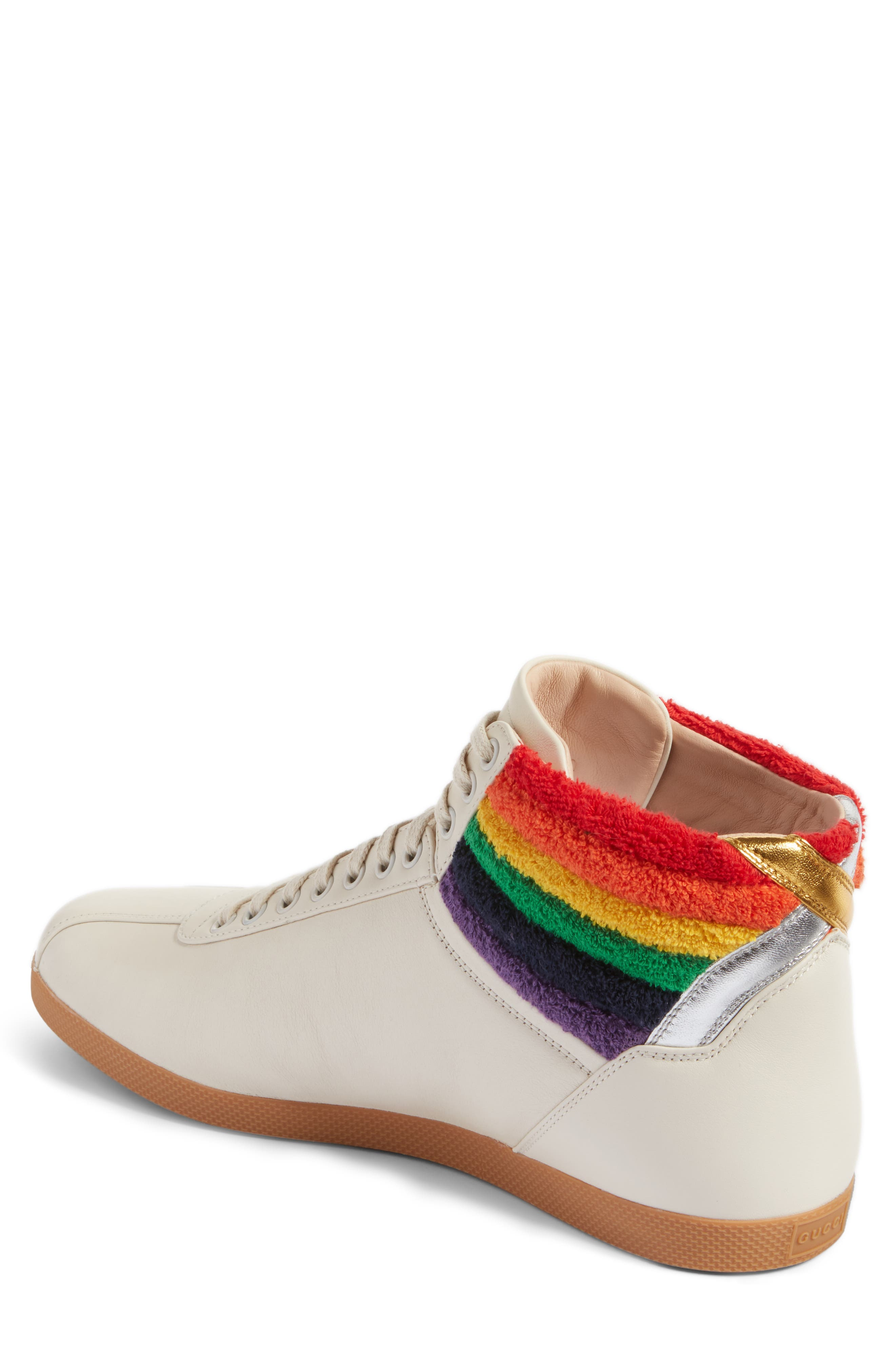 Alternate Image 2  - Gucci Bambi Rainbow Terry High Top Sneaker (Men)