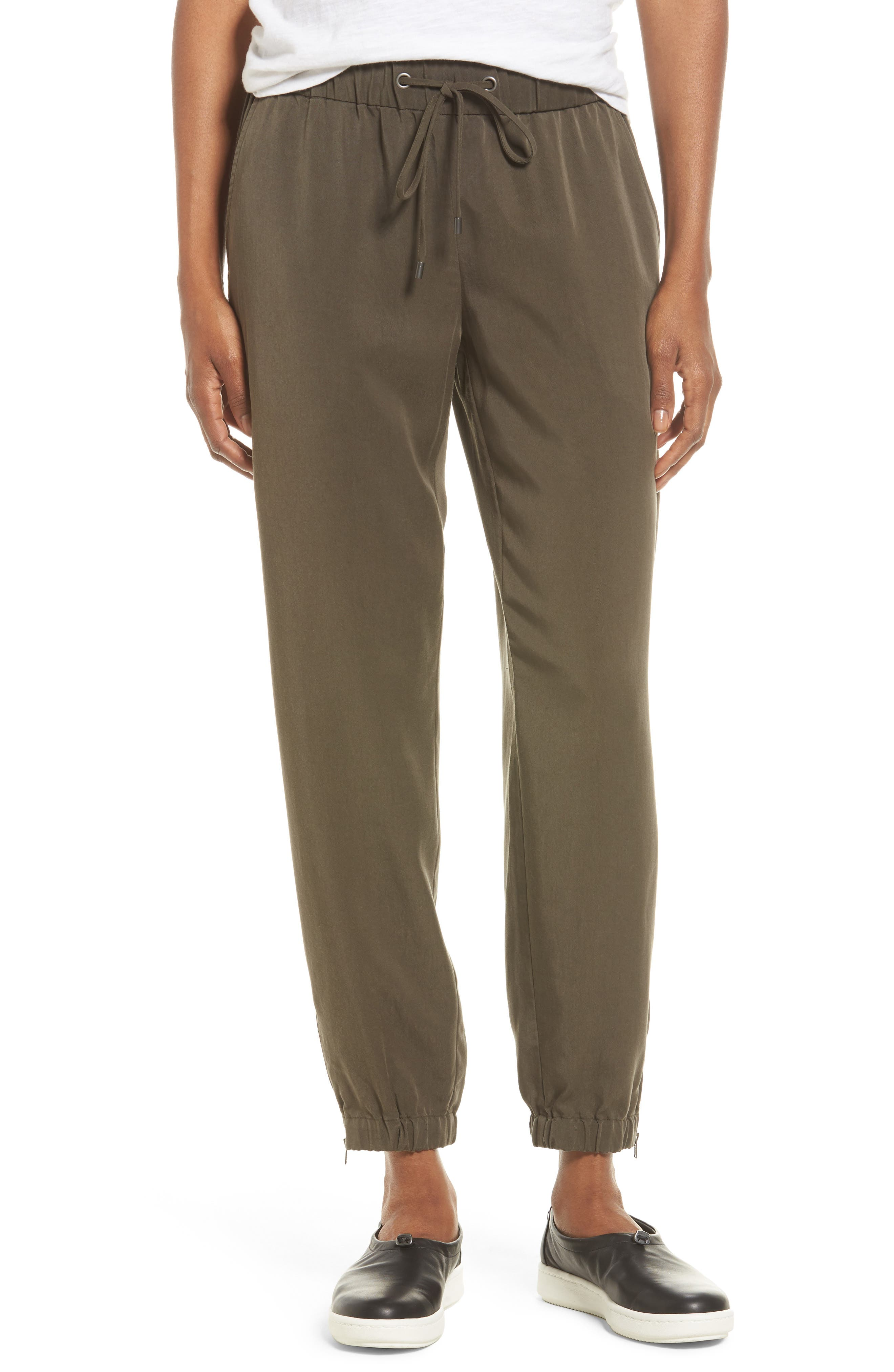 Alternate Image 1 Selected - Eileen Fisher Tencel® Drawstring Ankle Pants