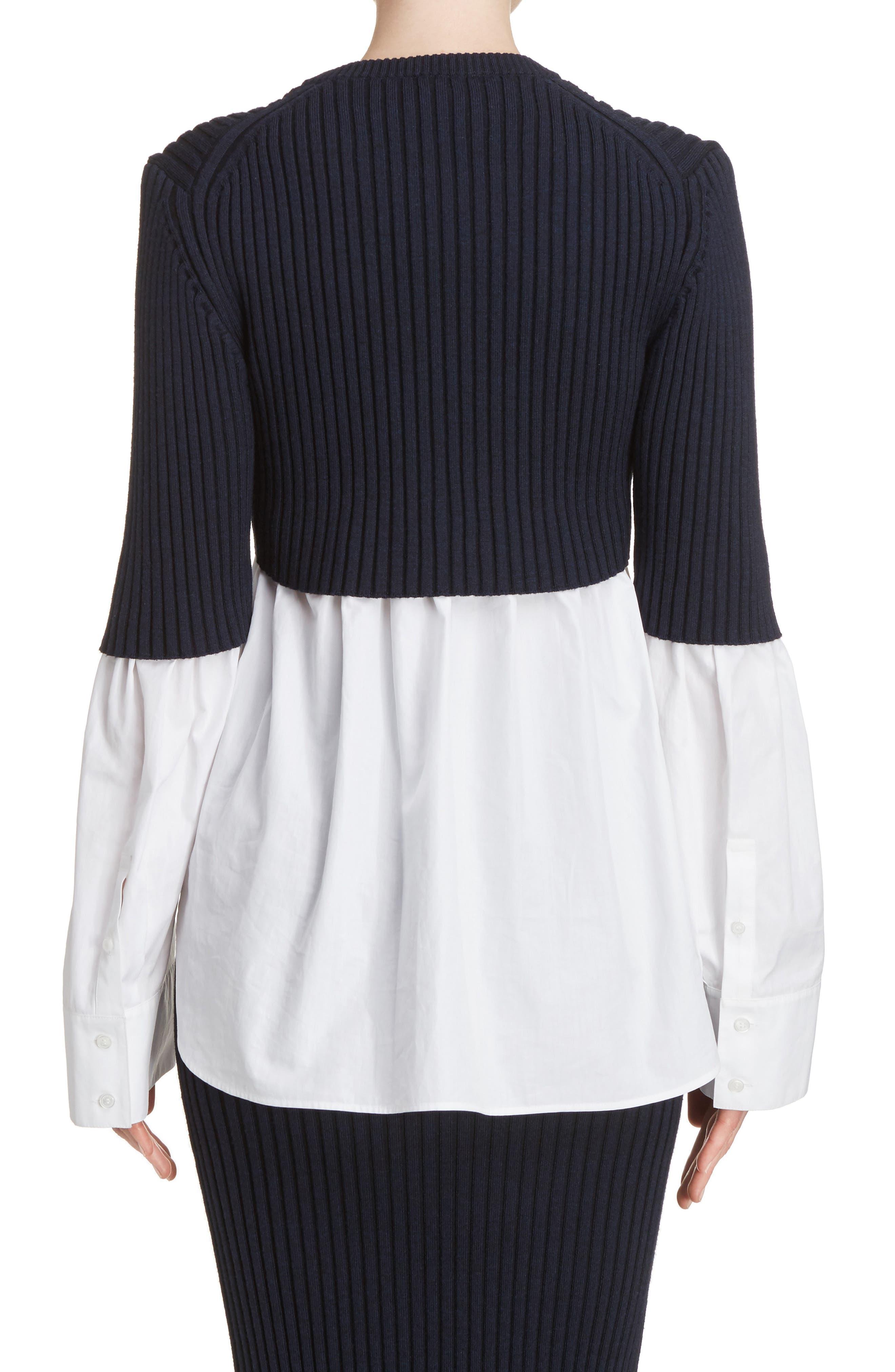 Alternate Image 3  - KENZO Knit Overlay Cotton Blouse