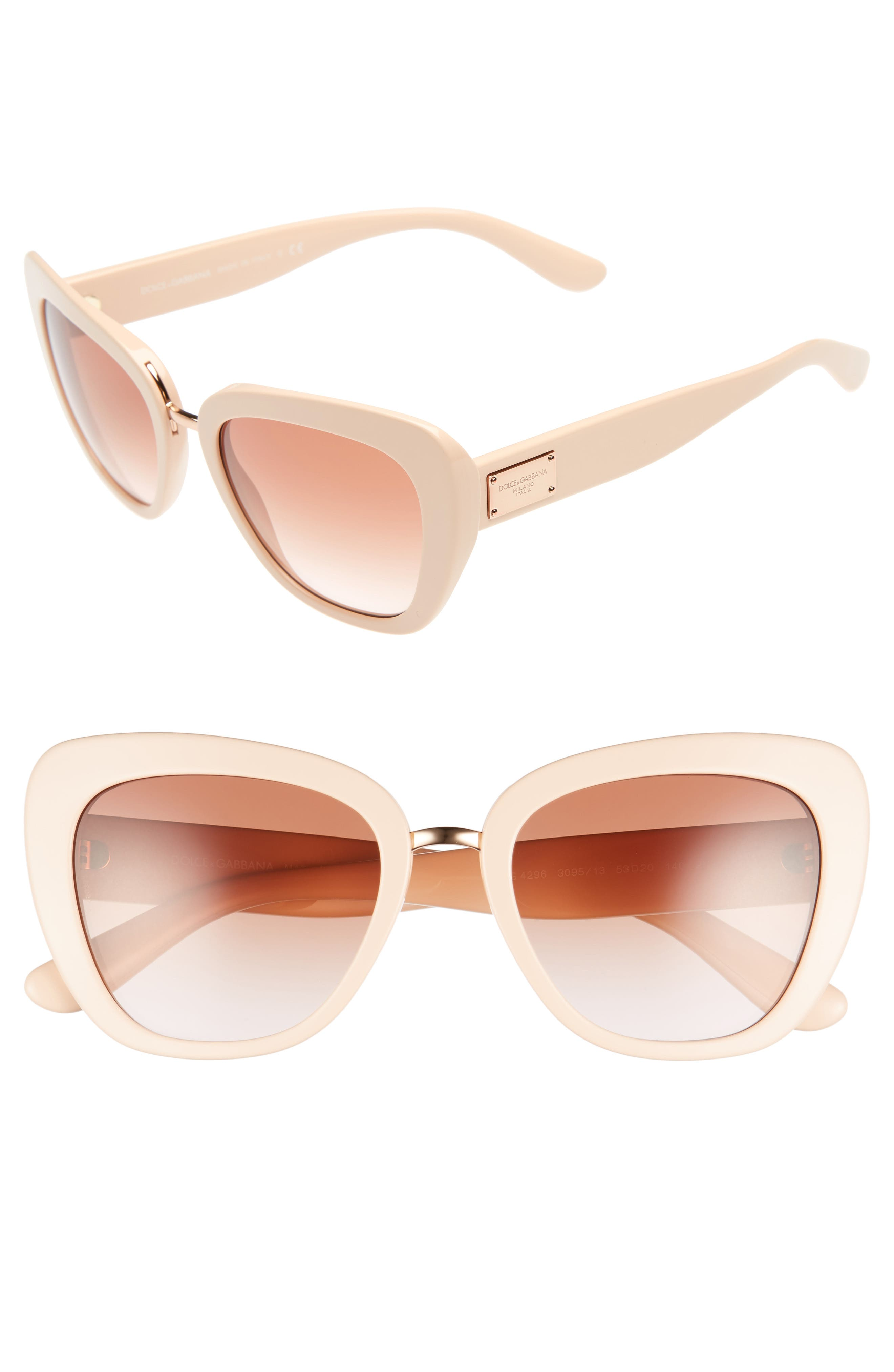 Alternate Image 1 Selected - Dolce&Gabbana 53mm Gradient Cat Eye Sunglasses