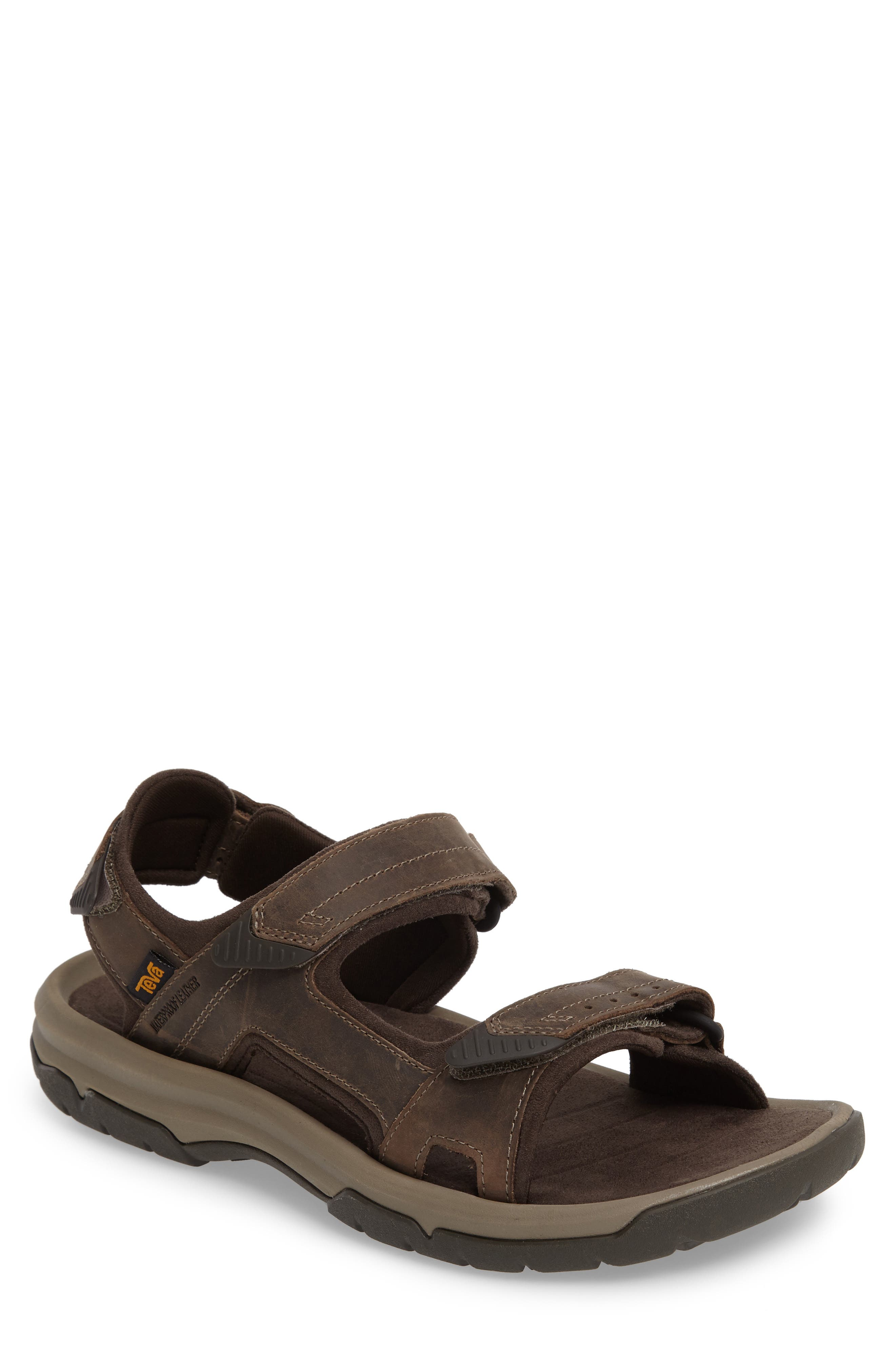 Langdon Sandal,                             Main thumbnail 1, color,                             Walnut