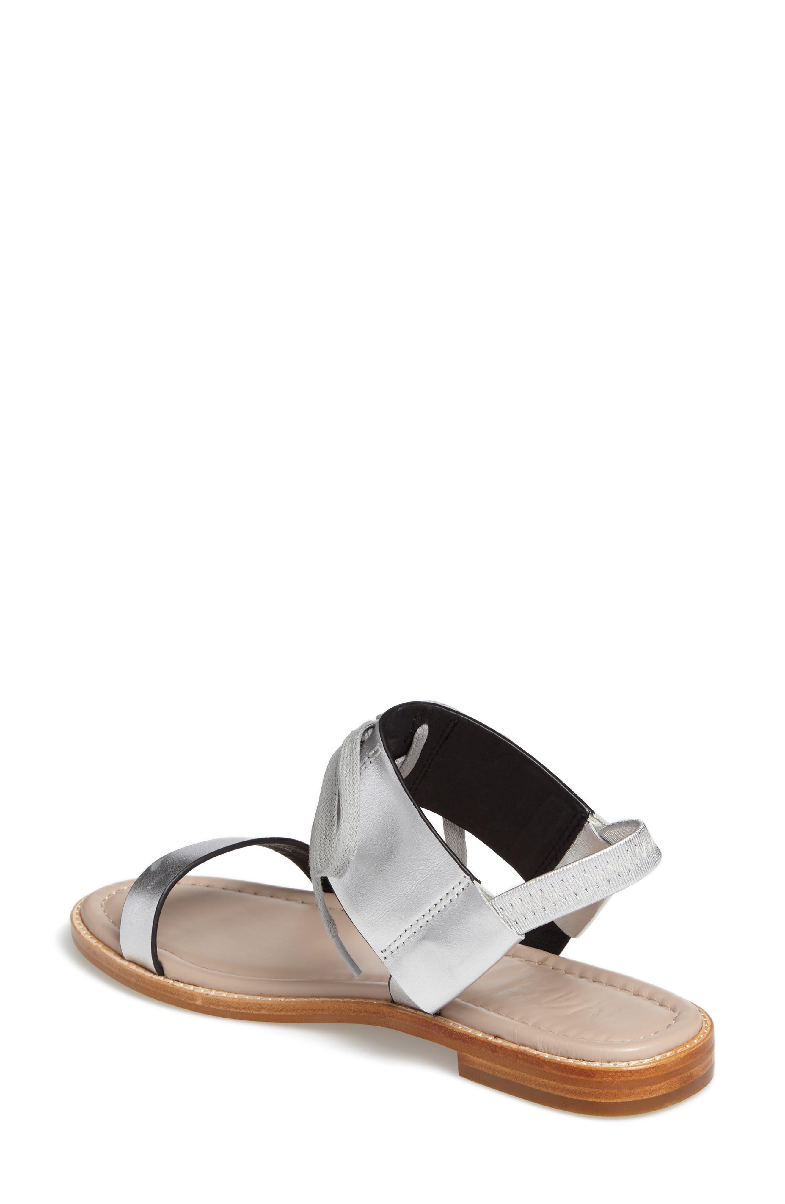 M4D3 Hailey Slingback Sandal,                             Alternate thumbnail 2, color,                             Silver Leather