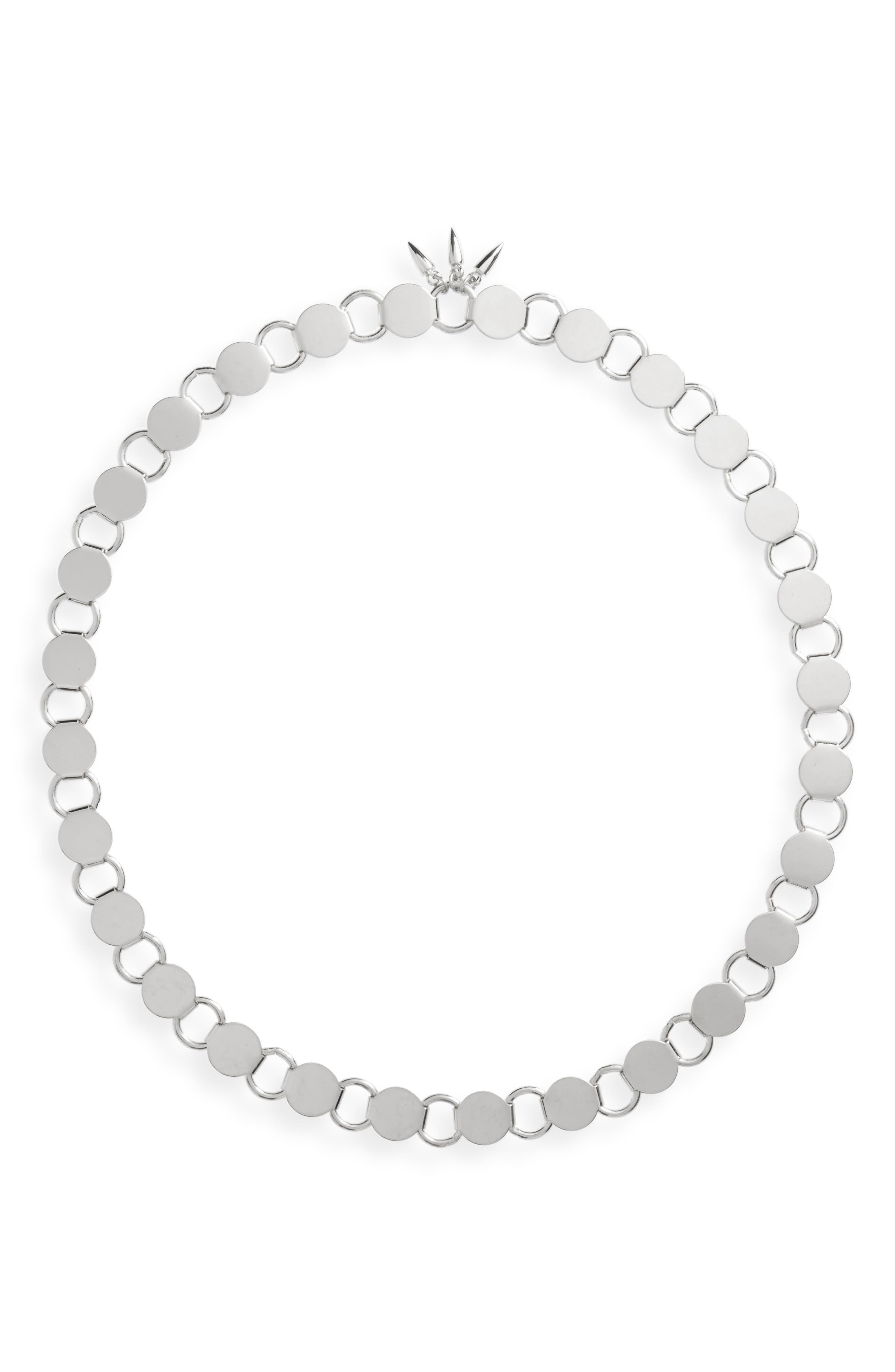 Convertible Link Necklace,                         Main,                         color, Silver