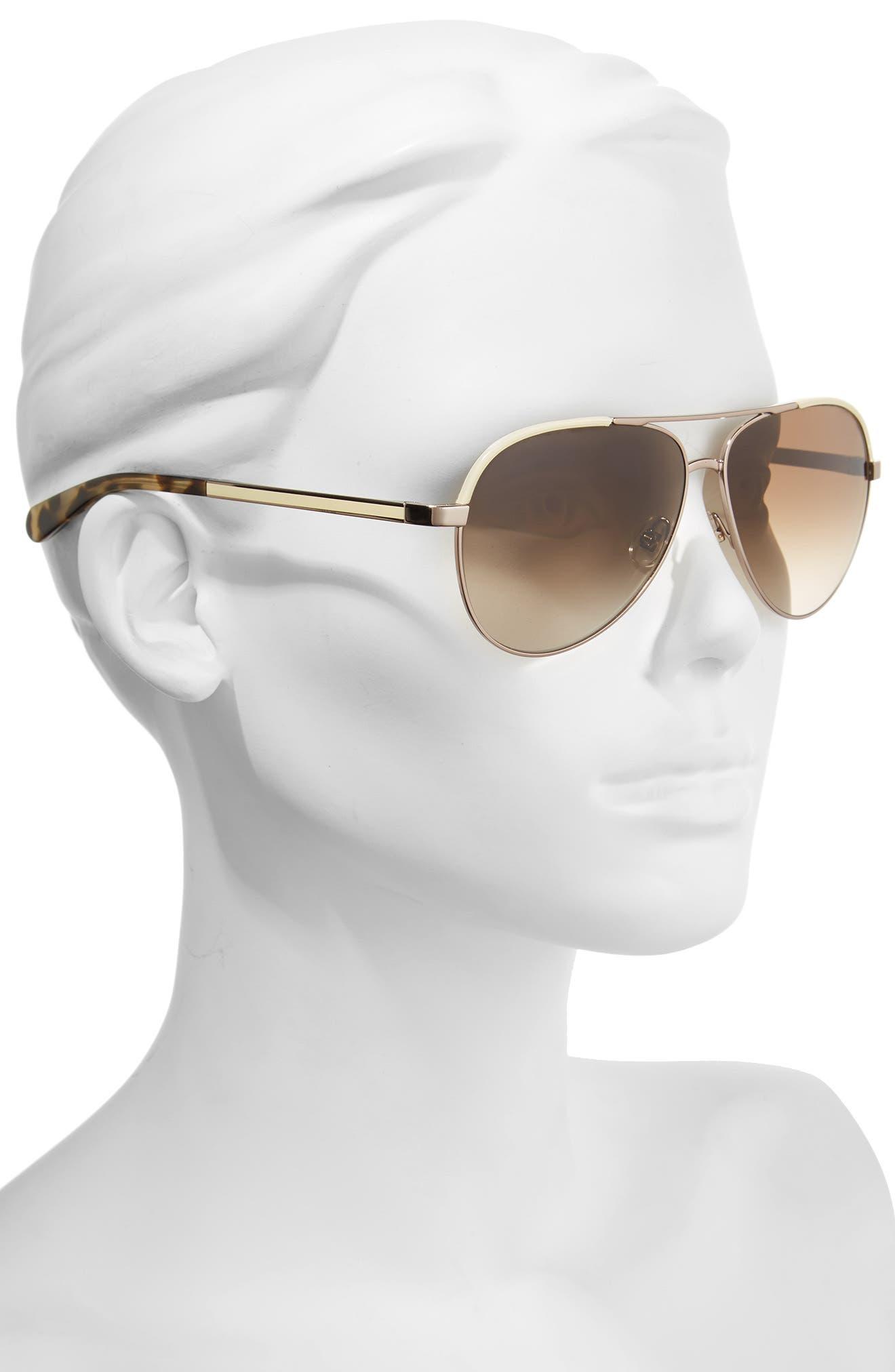Alternate Image 2  - kate spade new york amarissa 59mm polarized aviator sunglasses