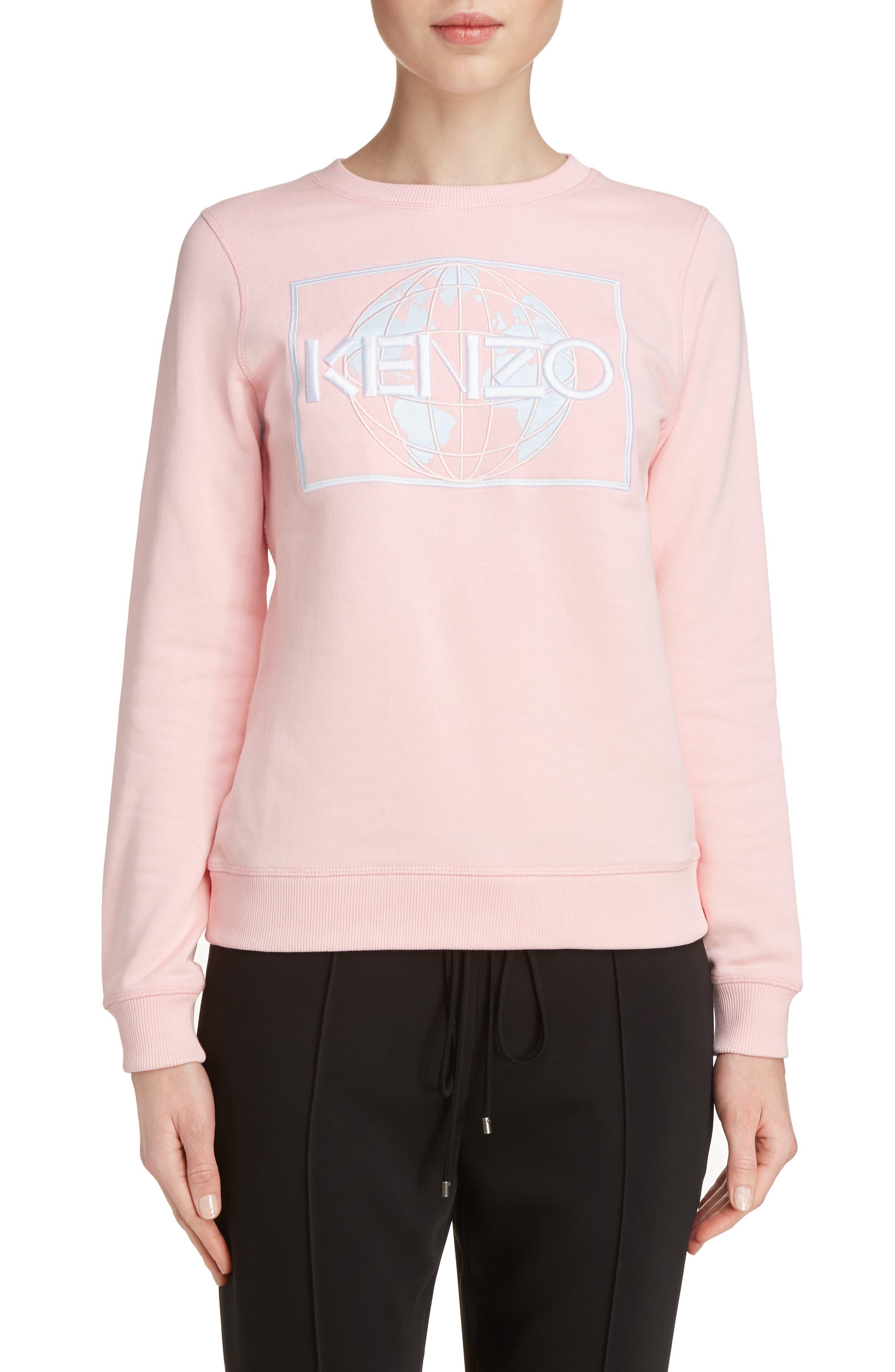 Alternate Image 1 Selected - KENZO Embroidered Cotton Sweatshirt