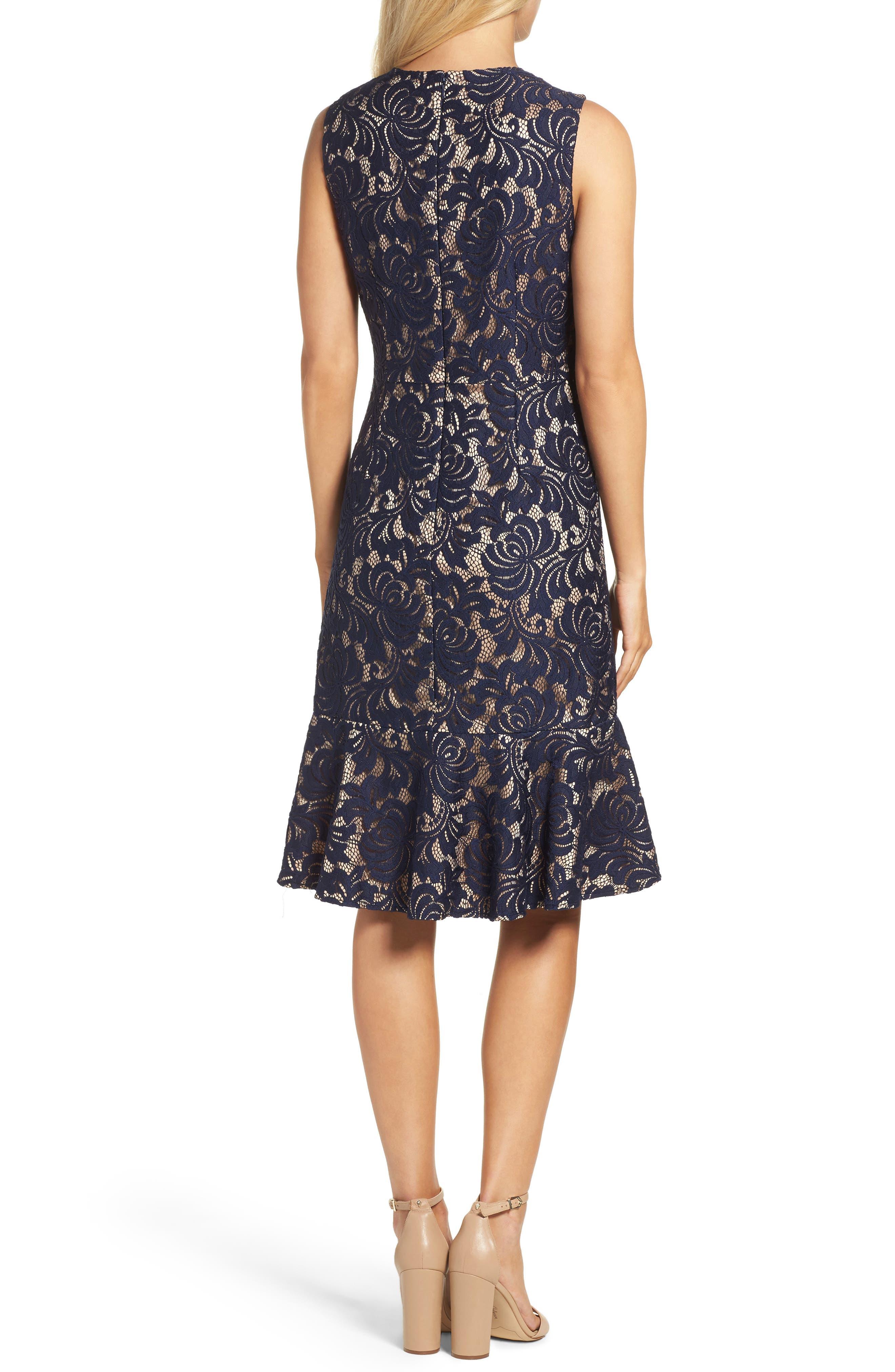 Alternate Image 2  - Eliza J Lace Midi Dress
