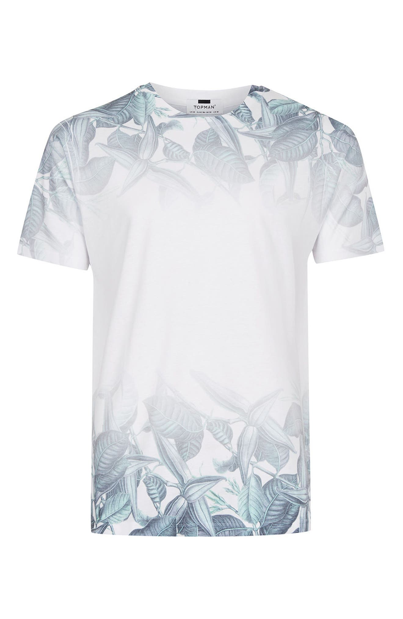 Alternate Image 5  - Topman Slim Fit Leaf Print T-Shirt