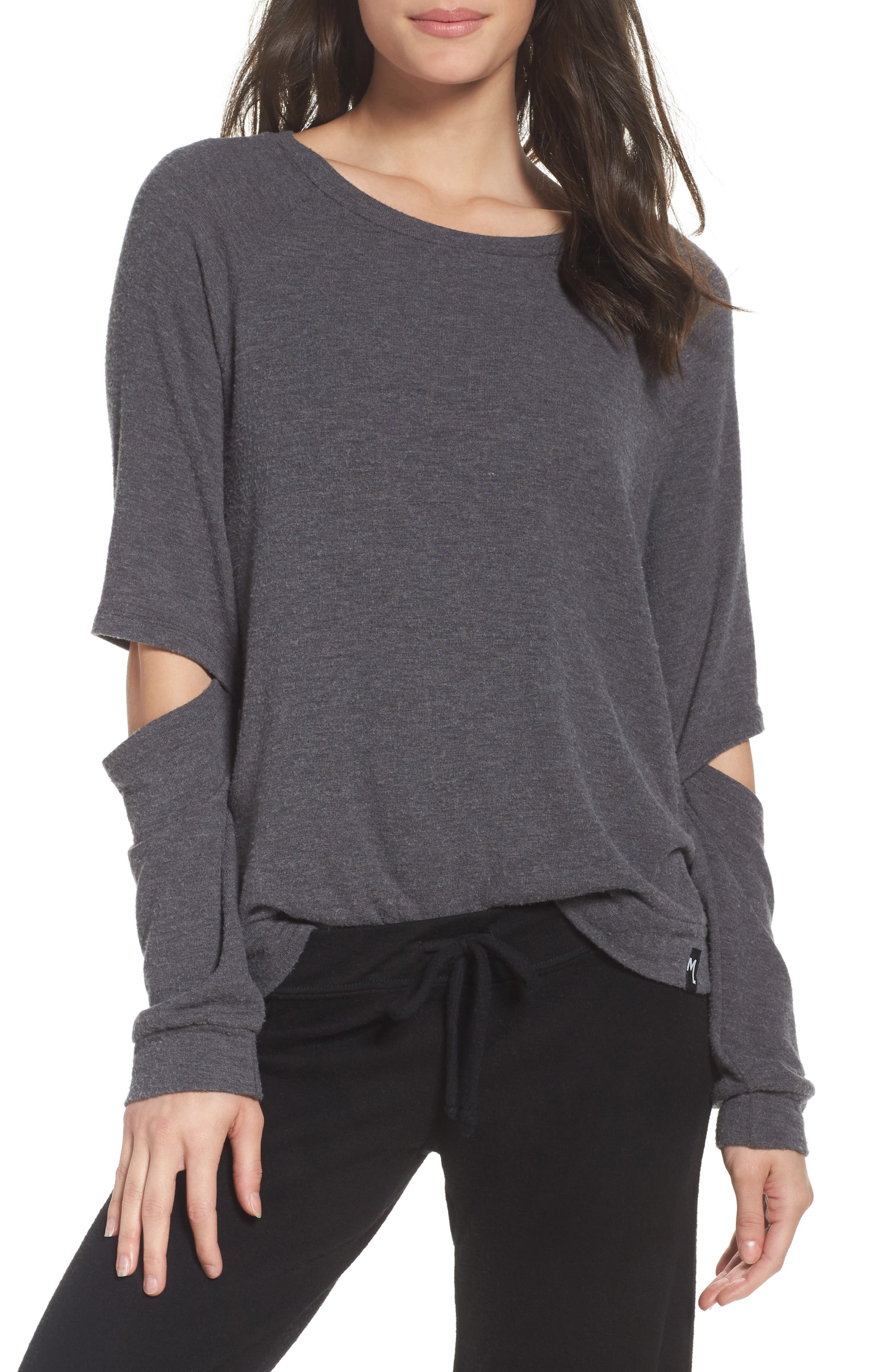 Briggs Lounge Tee,                         Main,                         color, Charcoal