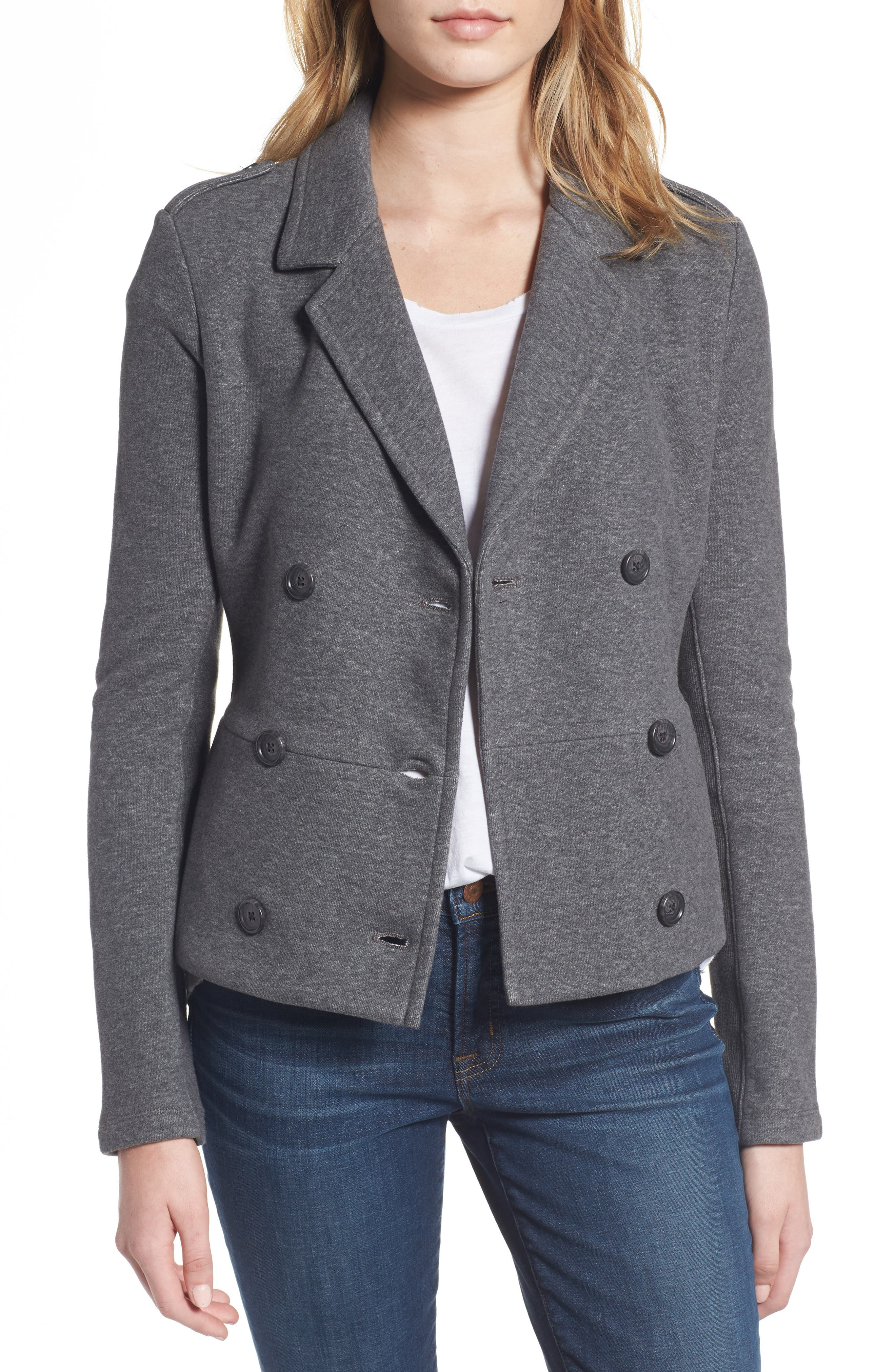 Main Image - James Perse Double Breasted Blazer