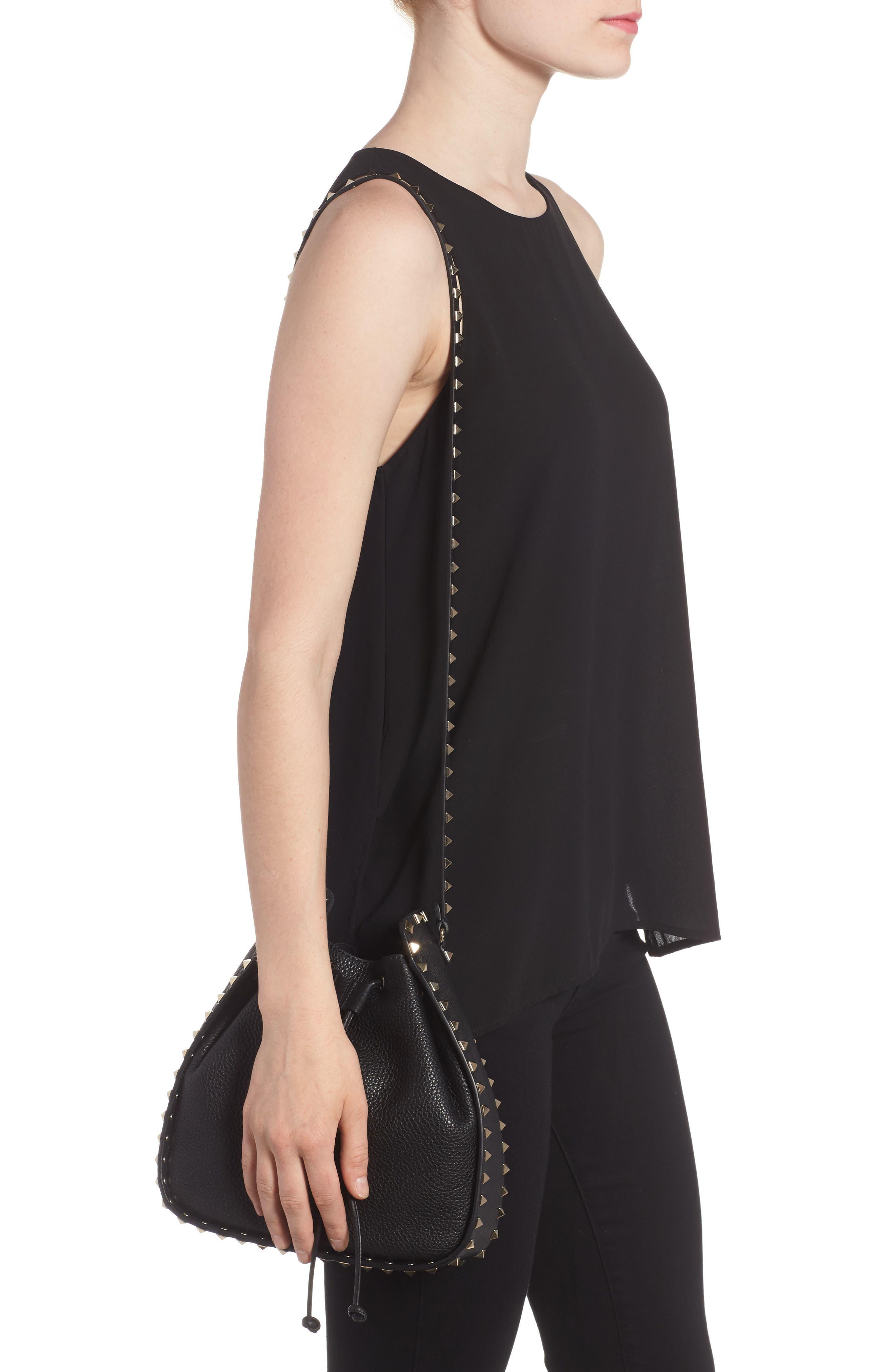 Alternate Image 2  - VALENTINO GARAVANI Large Rockstud Leather Bucket Bag