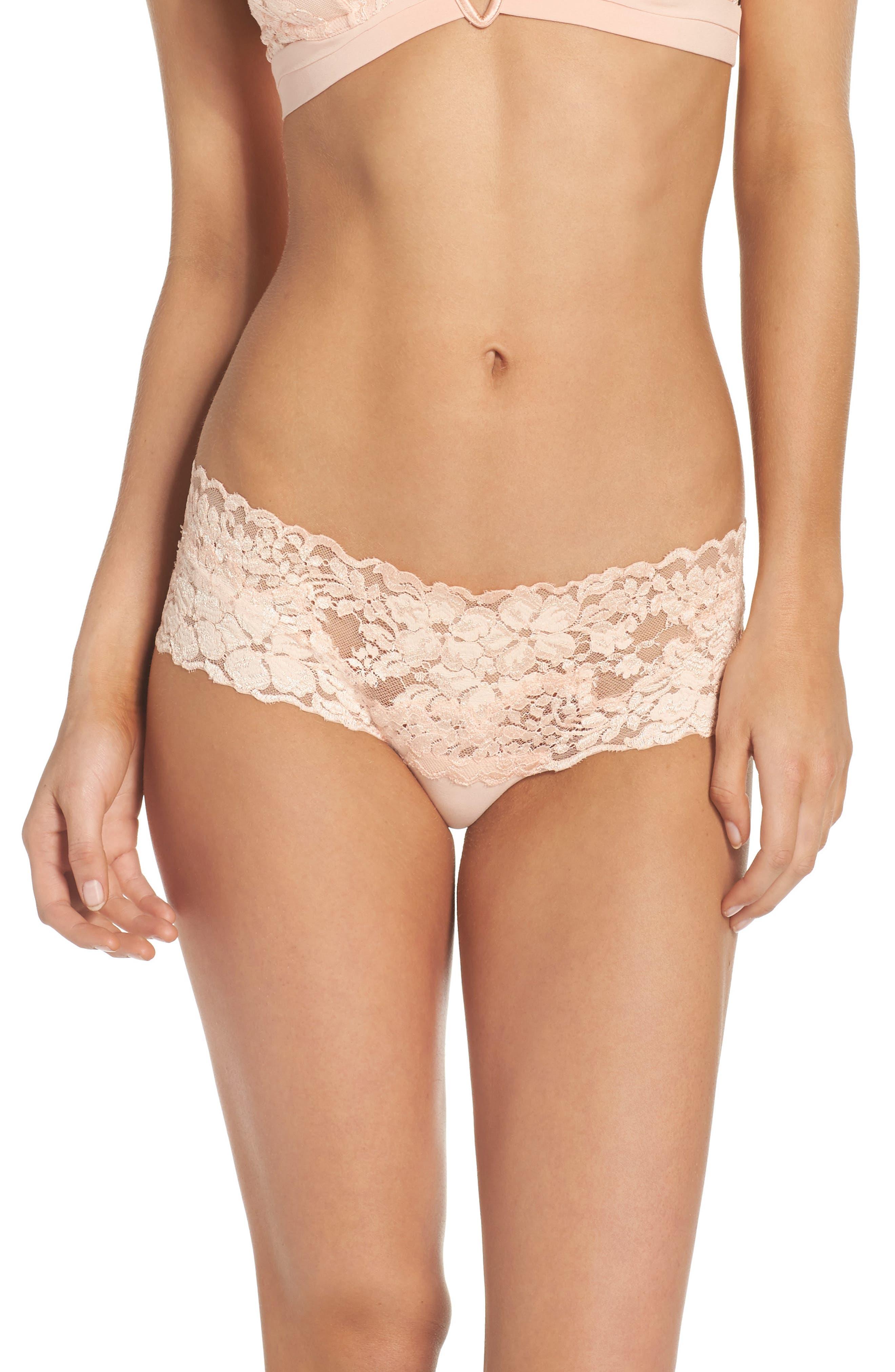 Azalea Hipster Panties,                         Main,                         color, Peach