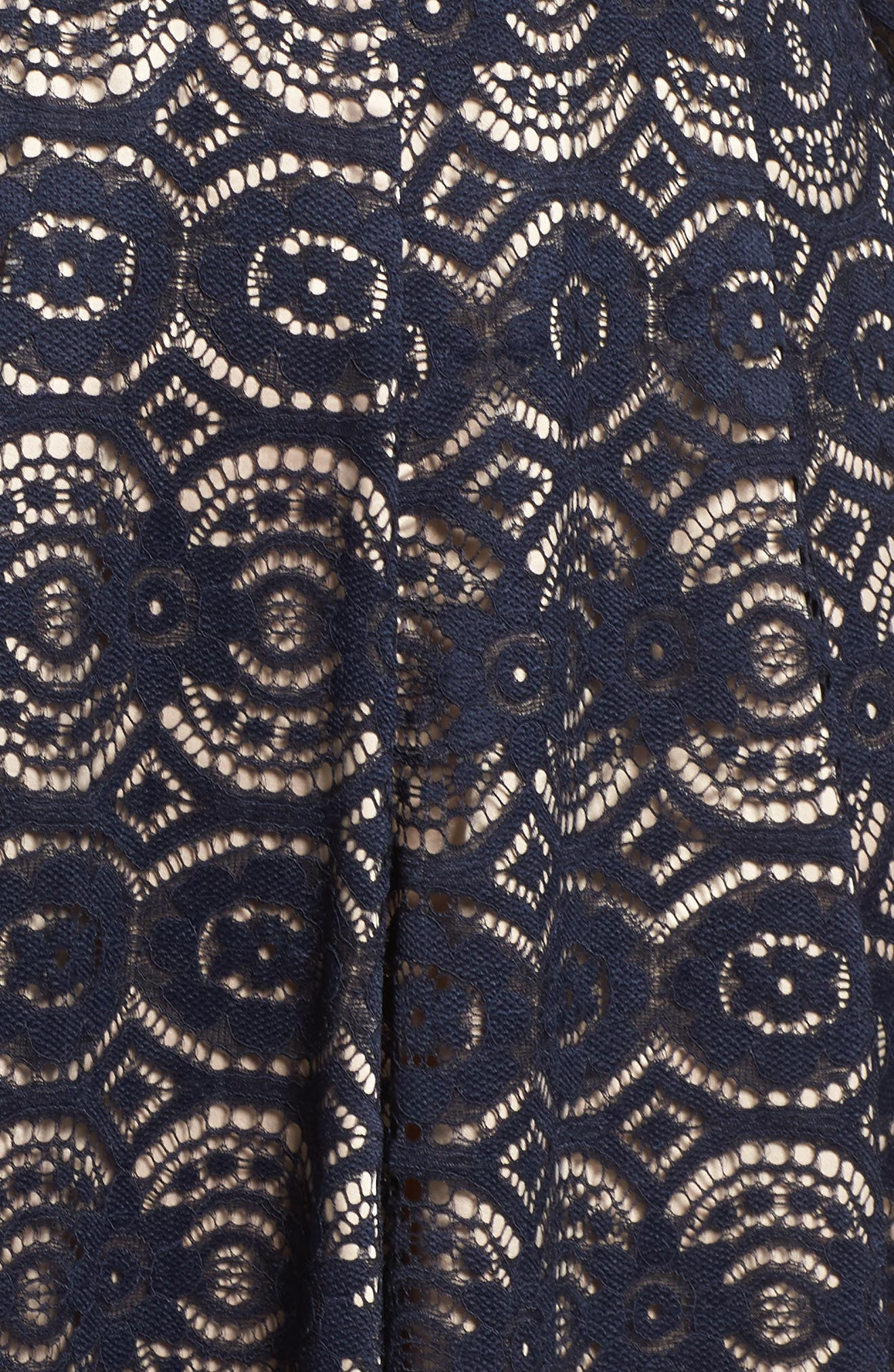 Alternate Image 5  - Eliza J Bell Sleeve Lace Fit & Flare Dress (Plus Size)