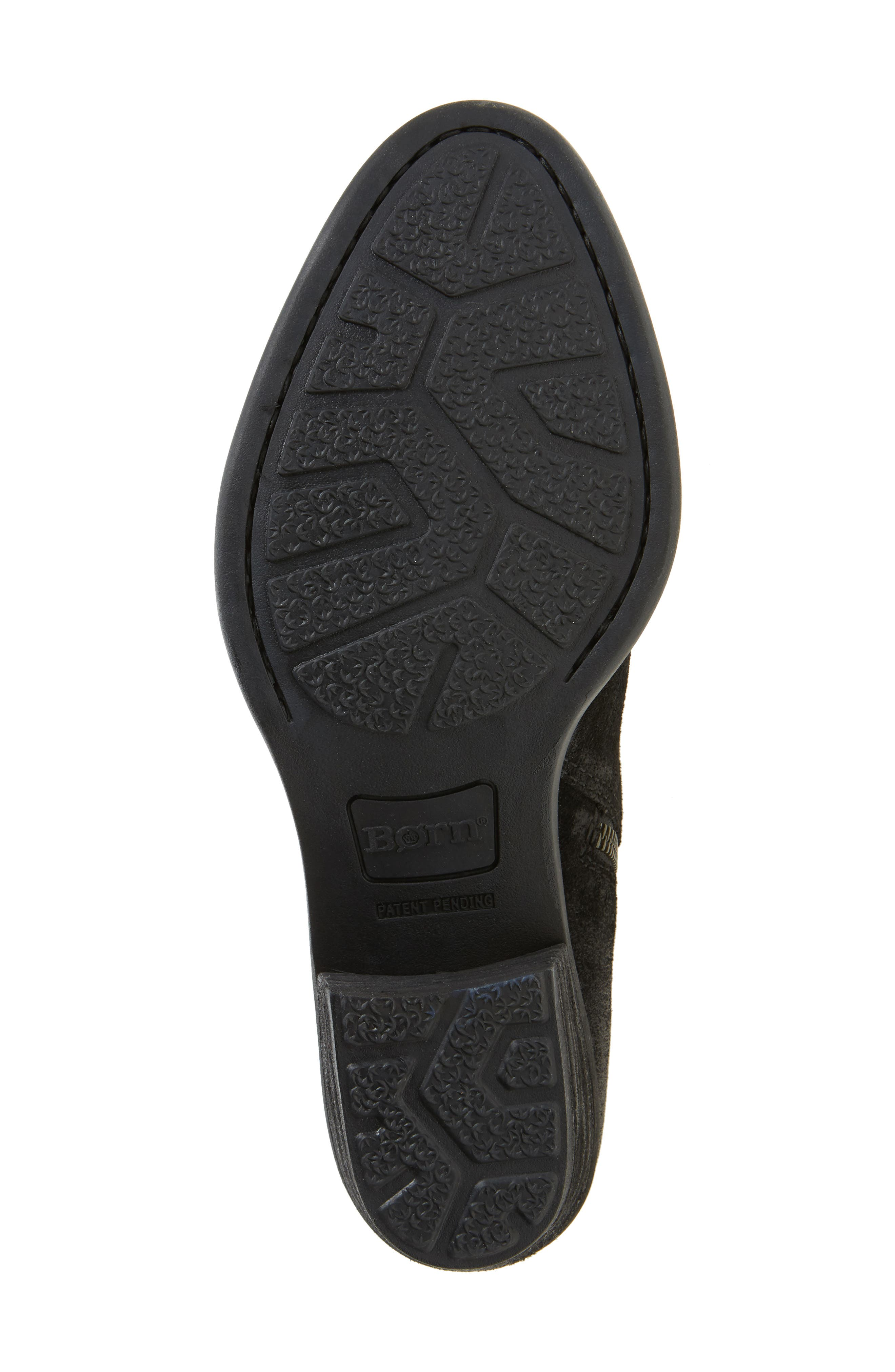 Barren Boot,                             Alternate thumbnail 6, color,                             Black Distressed Leather