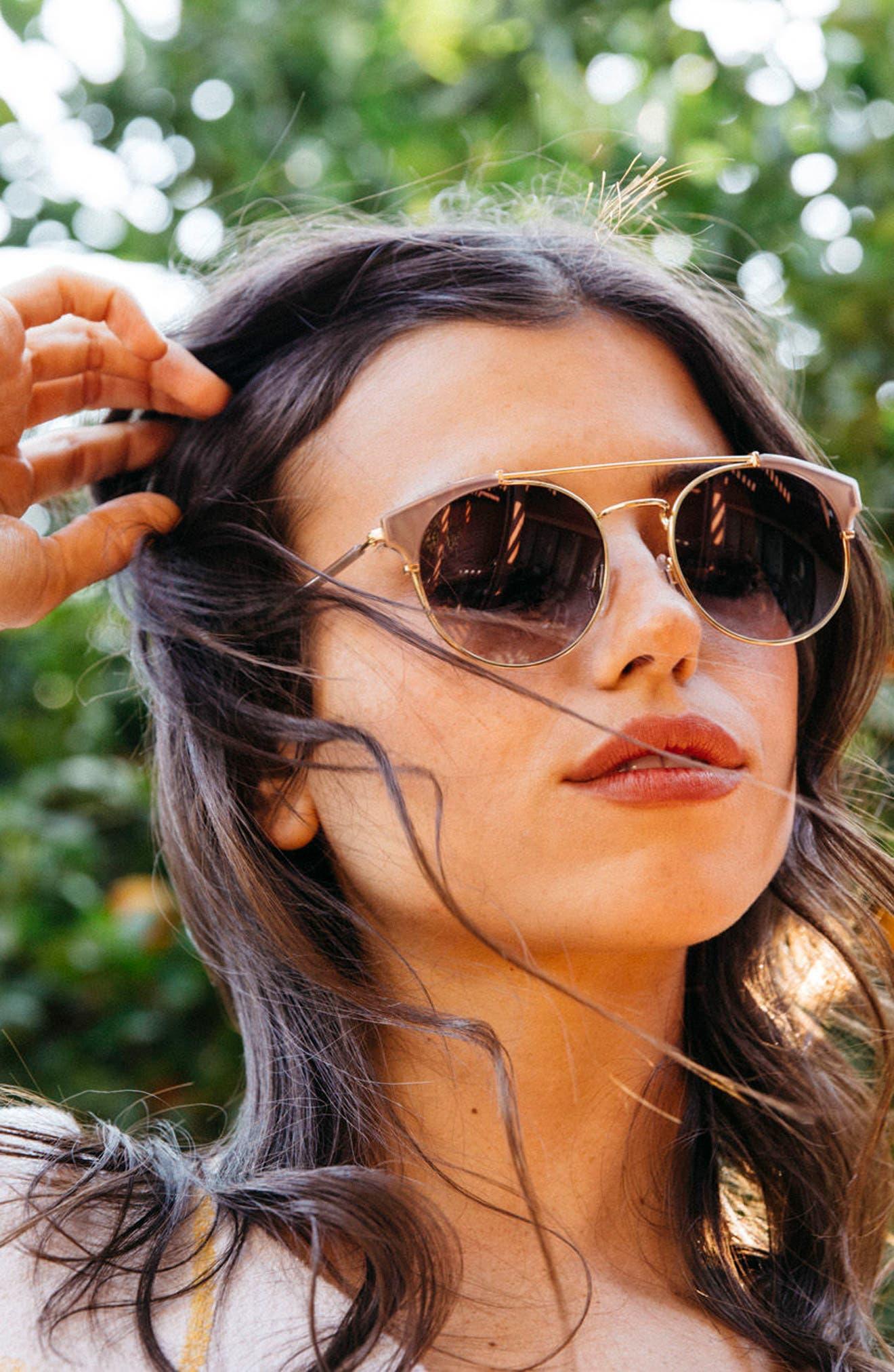 Alternate Image 10  - D'BLANC x Amuse Society Dosed Marquis 52mm Gradient Round Aviator Sunglasses
