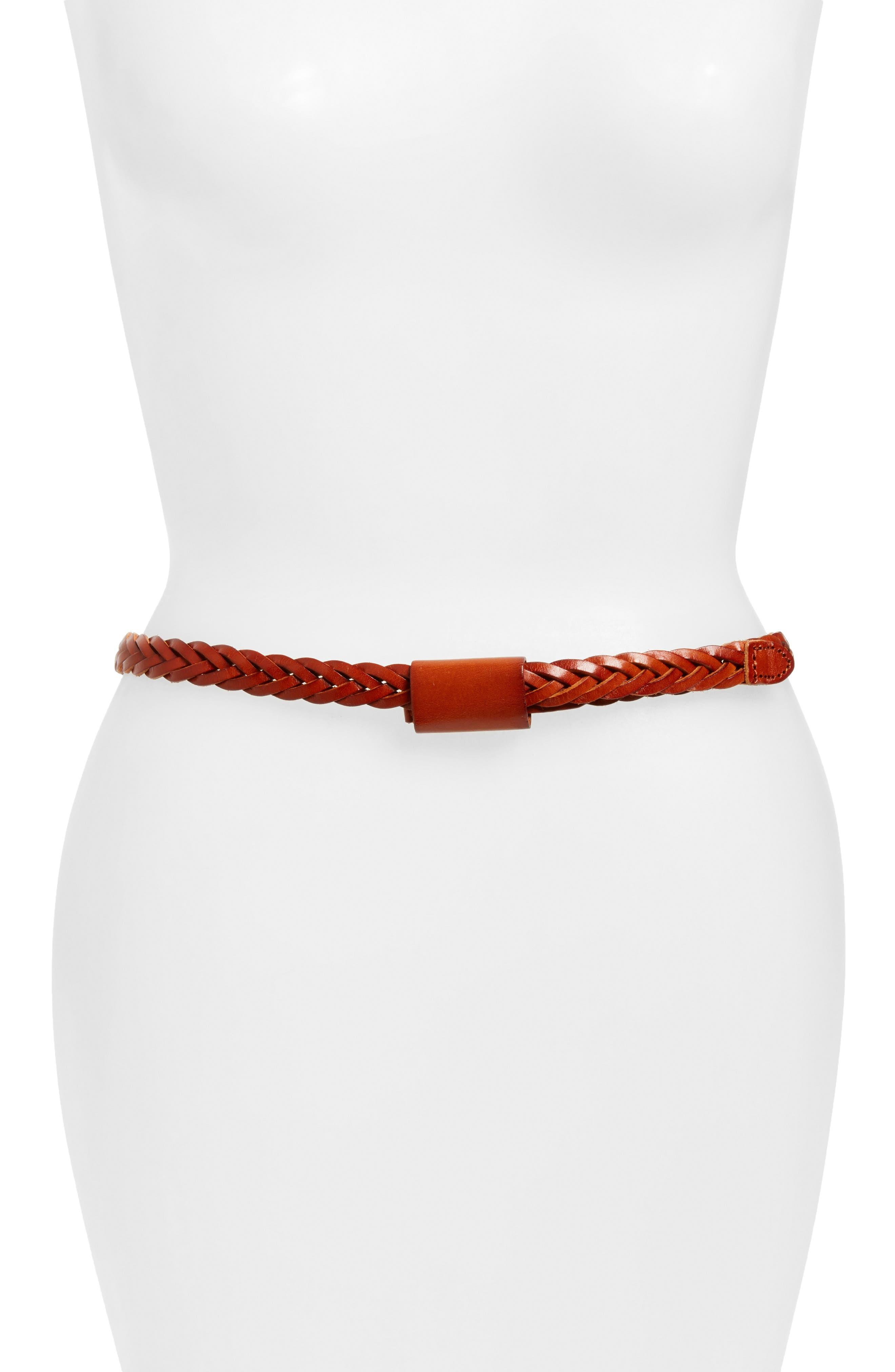 Main Image - Elisa M. Lasso Braided Leather Belt