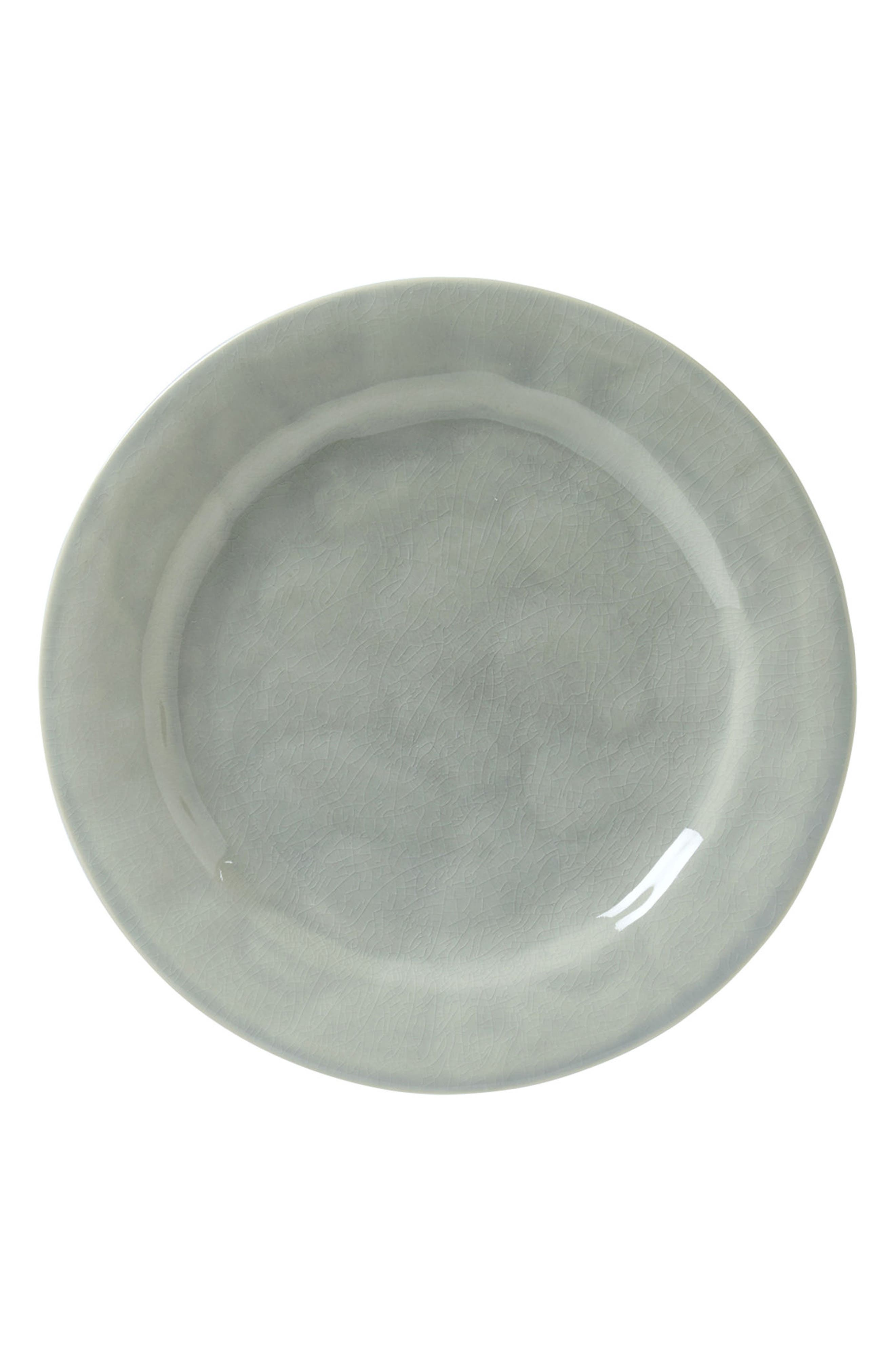 Puro Dinner Plate,                             Main thumbnail 1, color,                             Mist Grey Crackle
