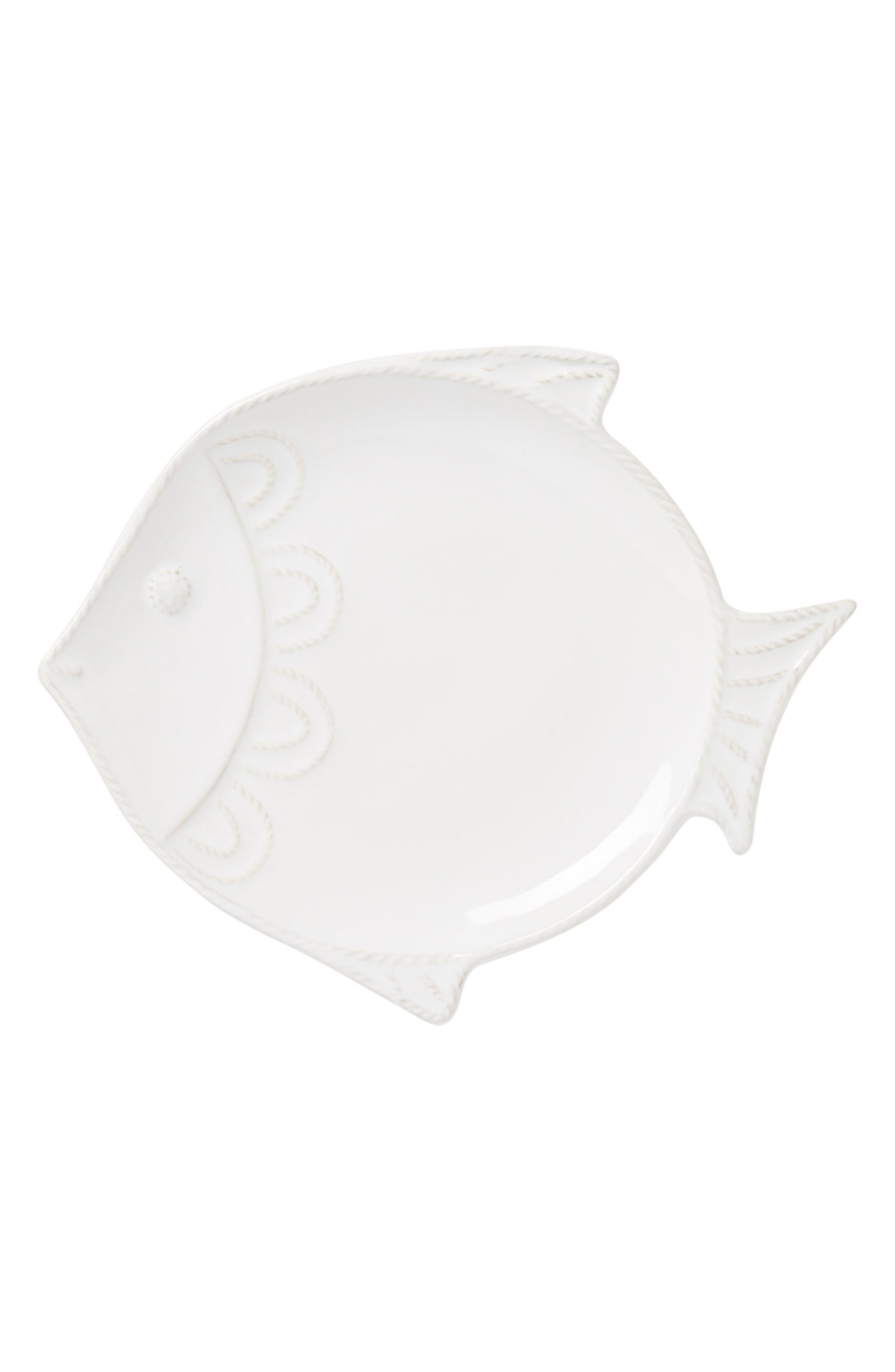 Berry & Thread Fish Salad Plate,                             Main thumbnail 1, color,                             Whitewash