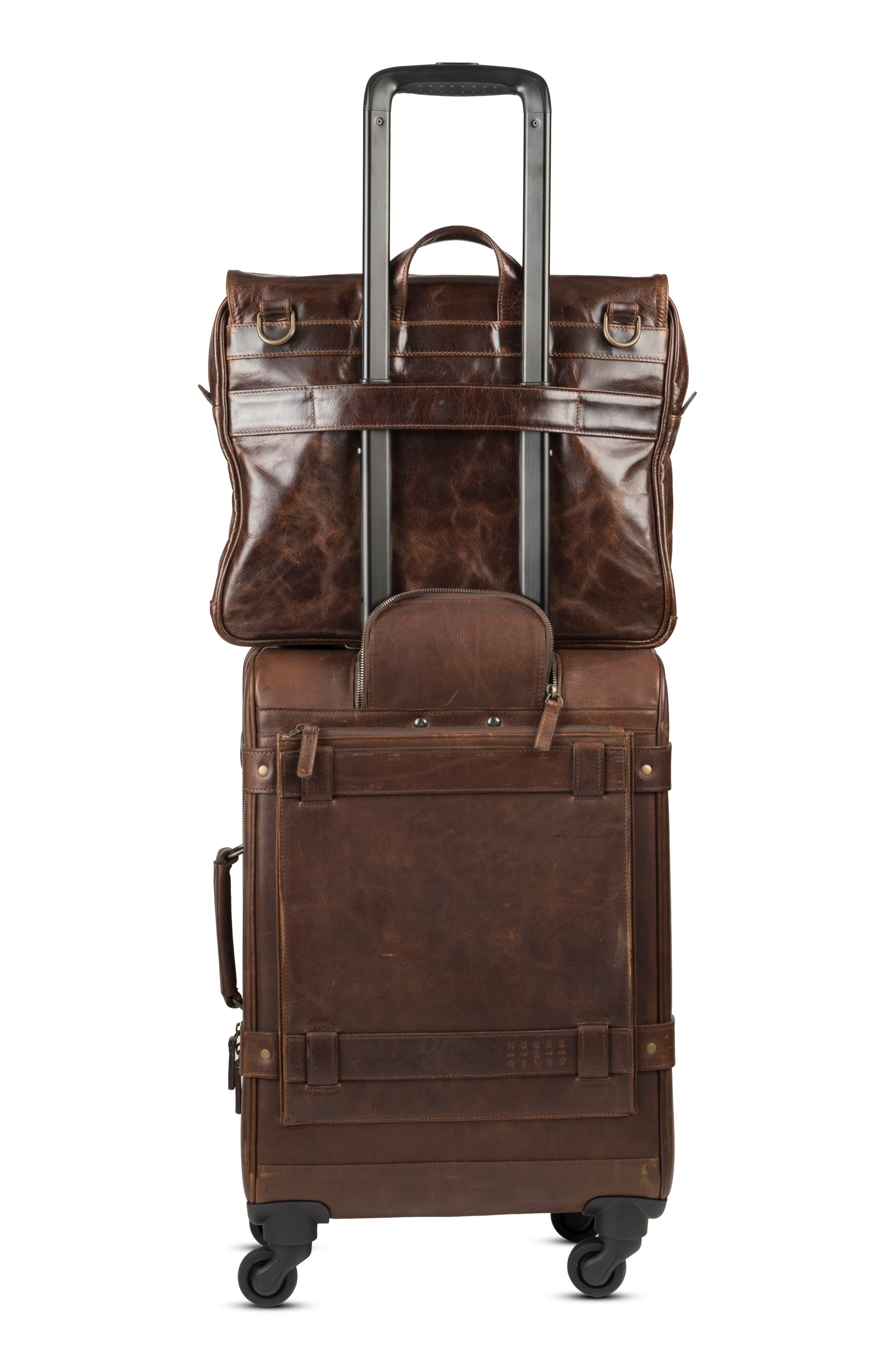 Alternate Image 6  - Moore & Giles Parker Leather Wheeled Suitcase