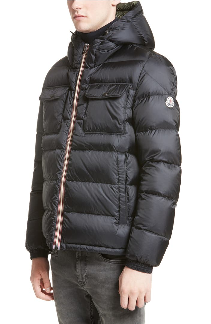 moncler morane hooded down pocket coat nordstrom. Black Bedroom Furniture Sets. Home Design Ideas