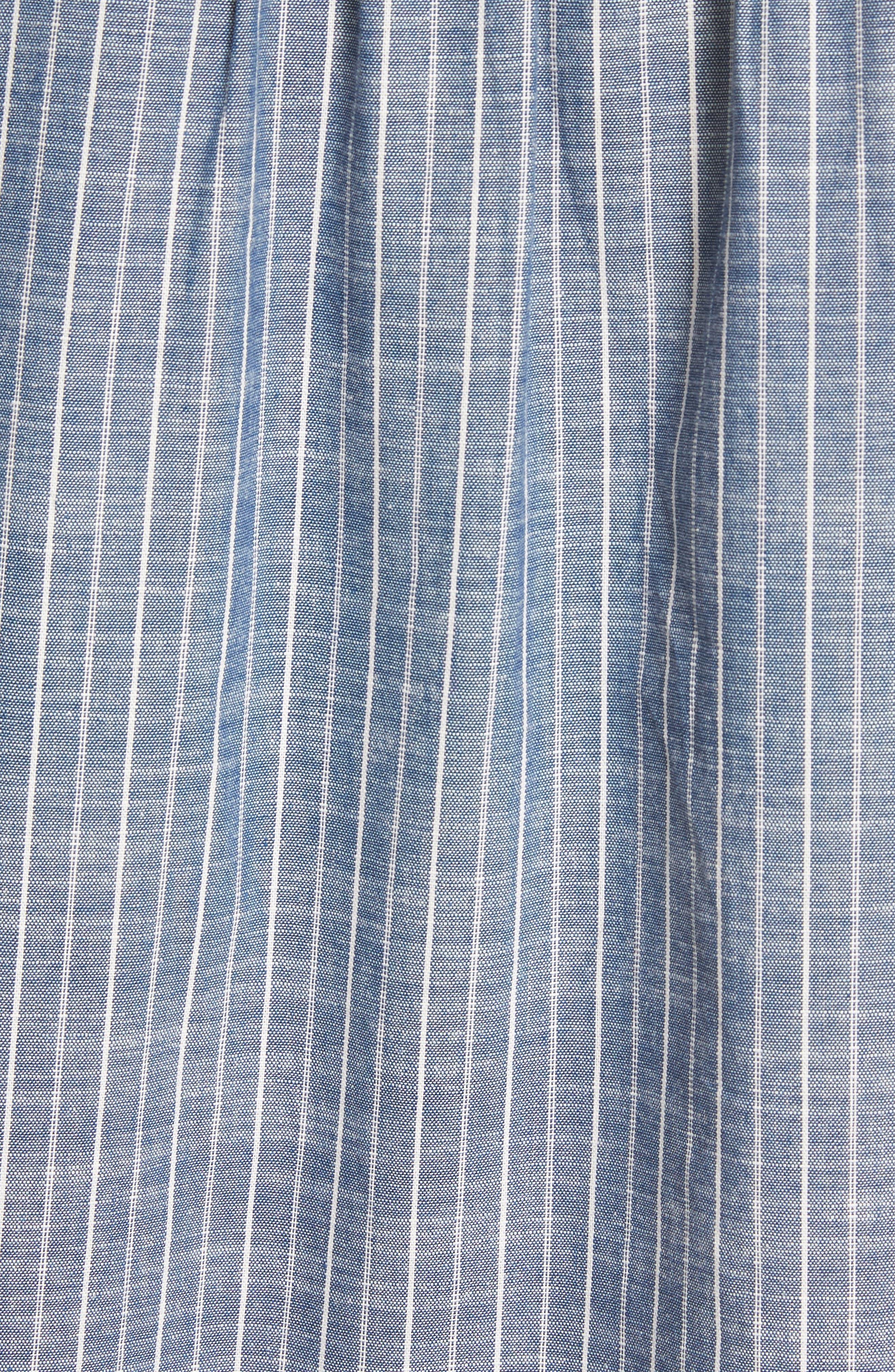 Alania Stripe Top,                             Alternate thumbnail 5, color,                             Chambray