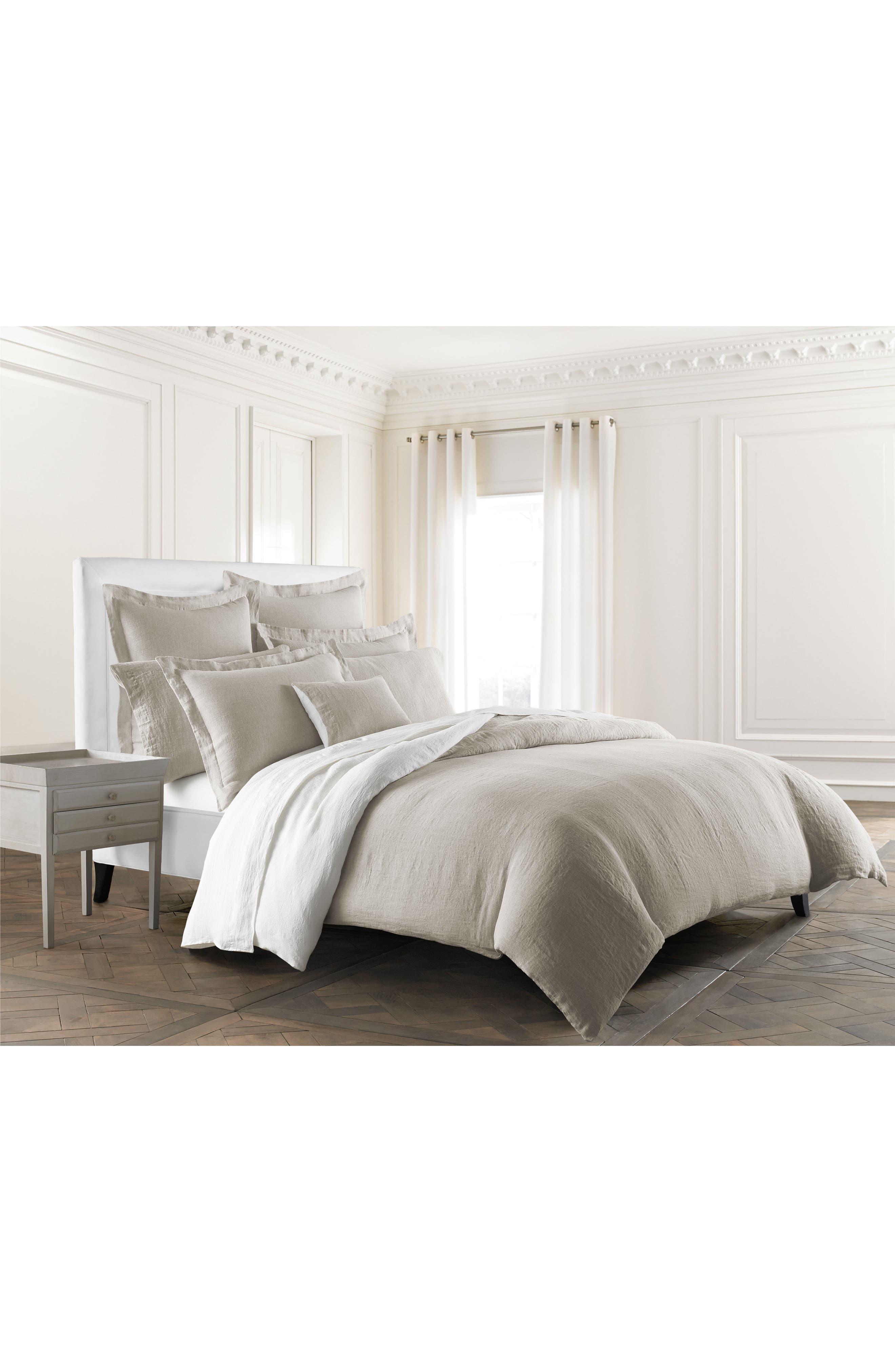 Lino Linen Duvet Cover,                         Main,                         color, Linen
