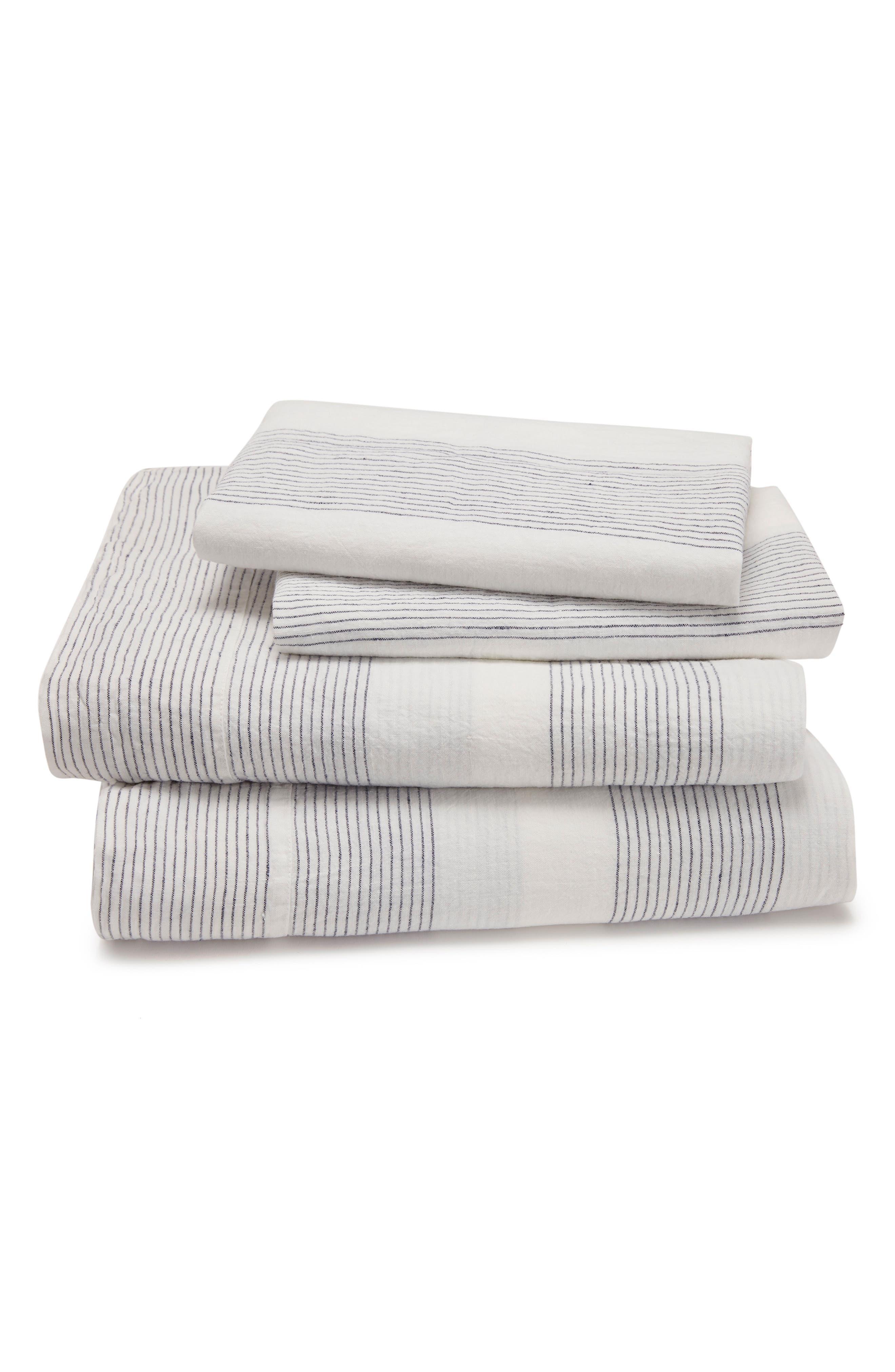 KASSATEX Amagansett Linen 300 Thread Count Flat Sheet