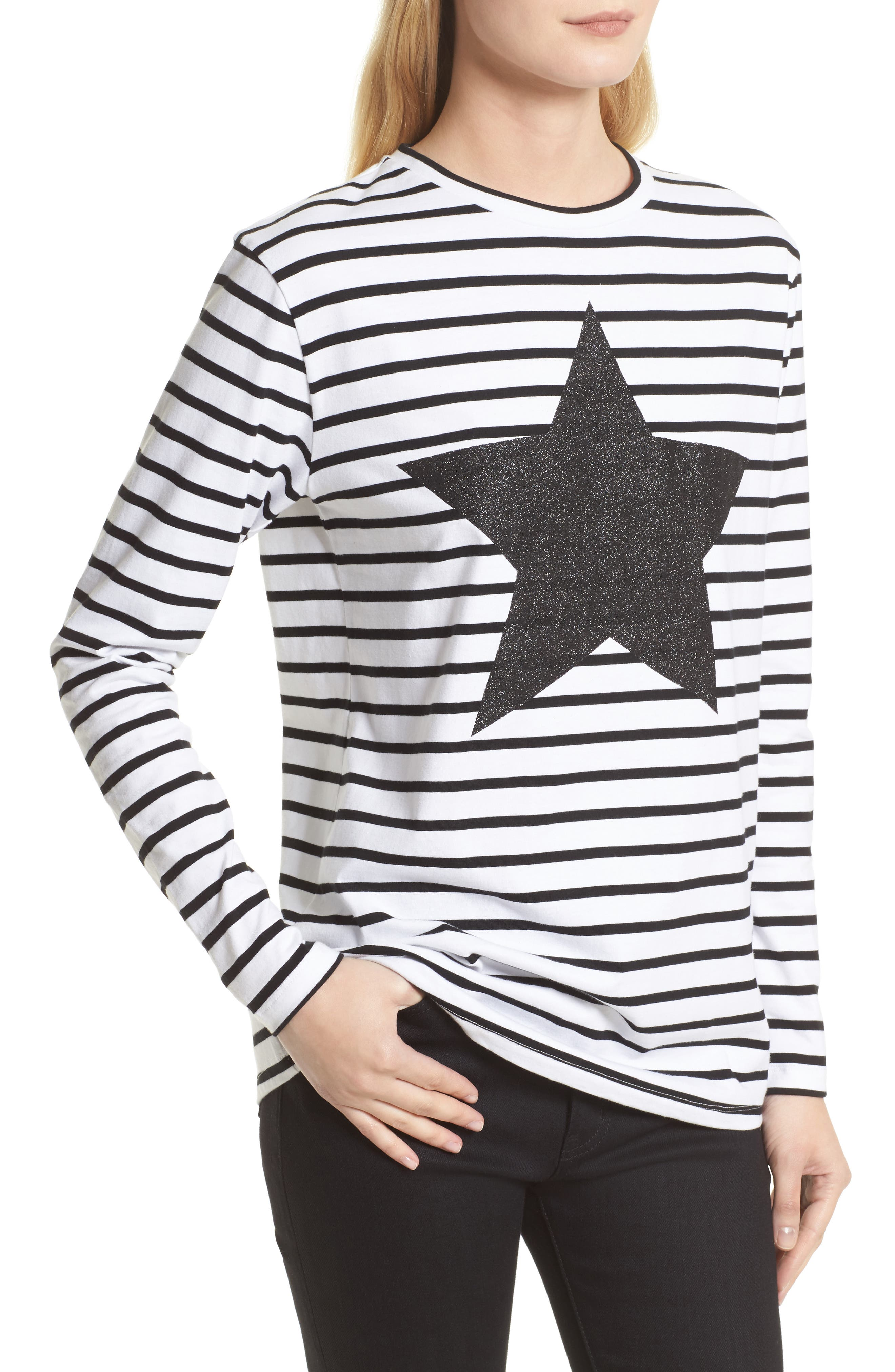 Alternate Image 4  - être cécile Star Stripe Tee