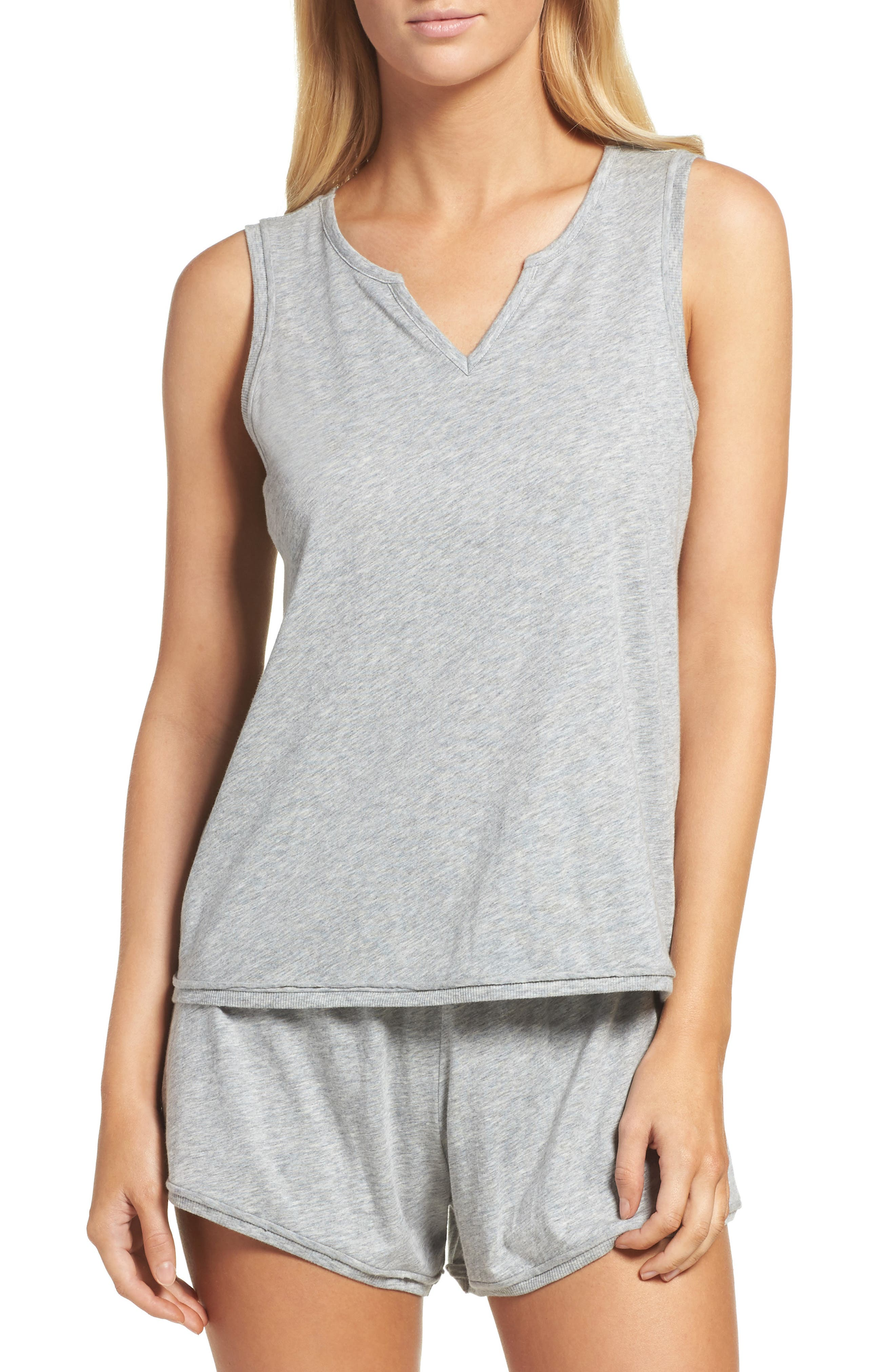 Lounge Tank,                             Main thumbnail 1, color,                             Heather Grey