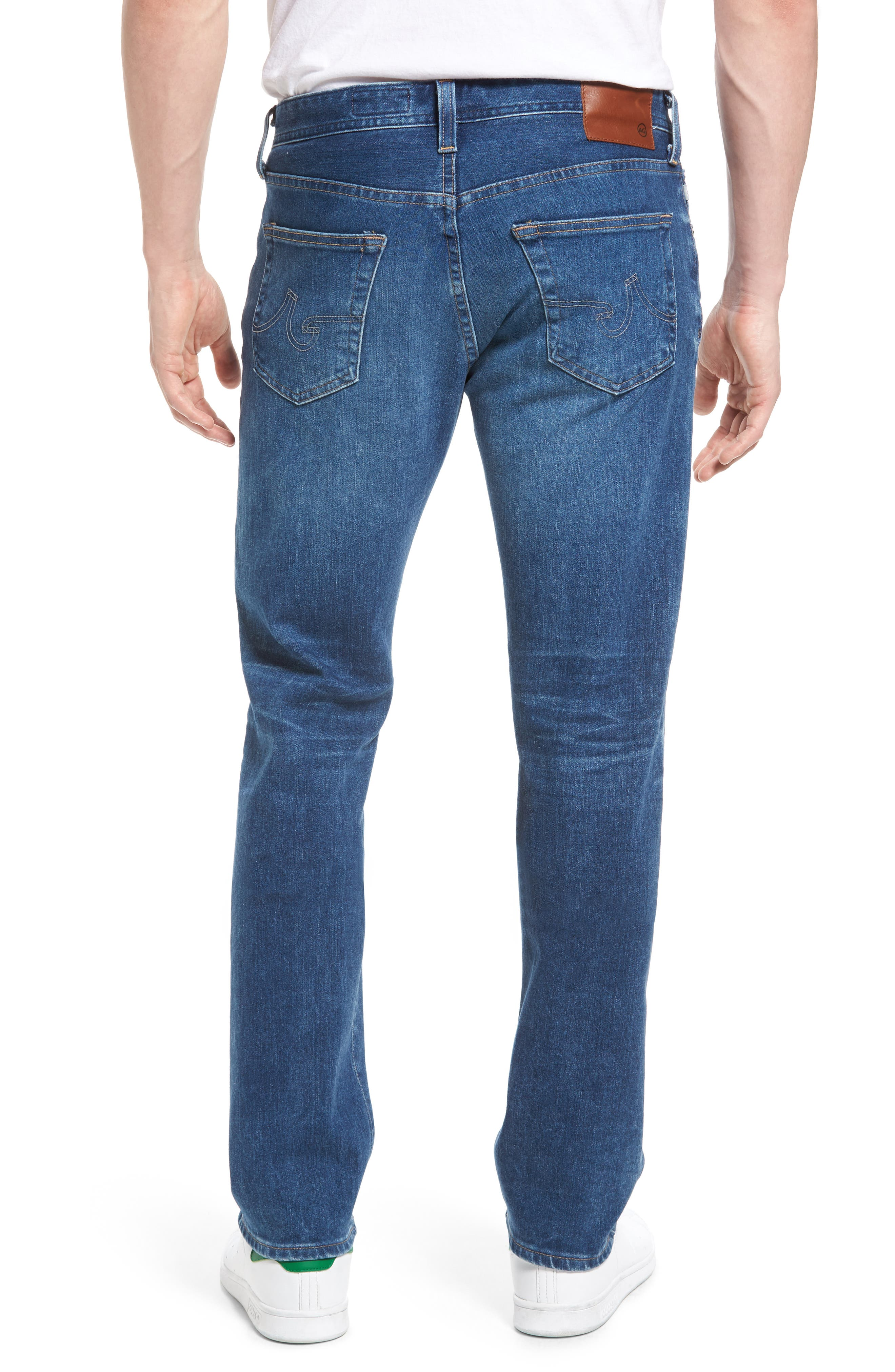 Graduate Slim Straight Leg Jeans,                             Alternate thumbnail 2, color,                             11 Years Delom