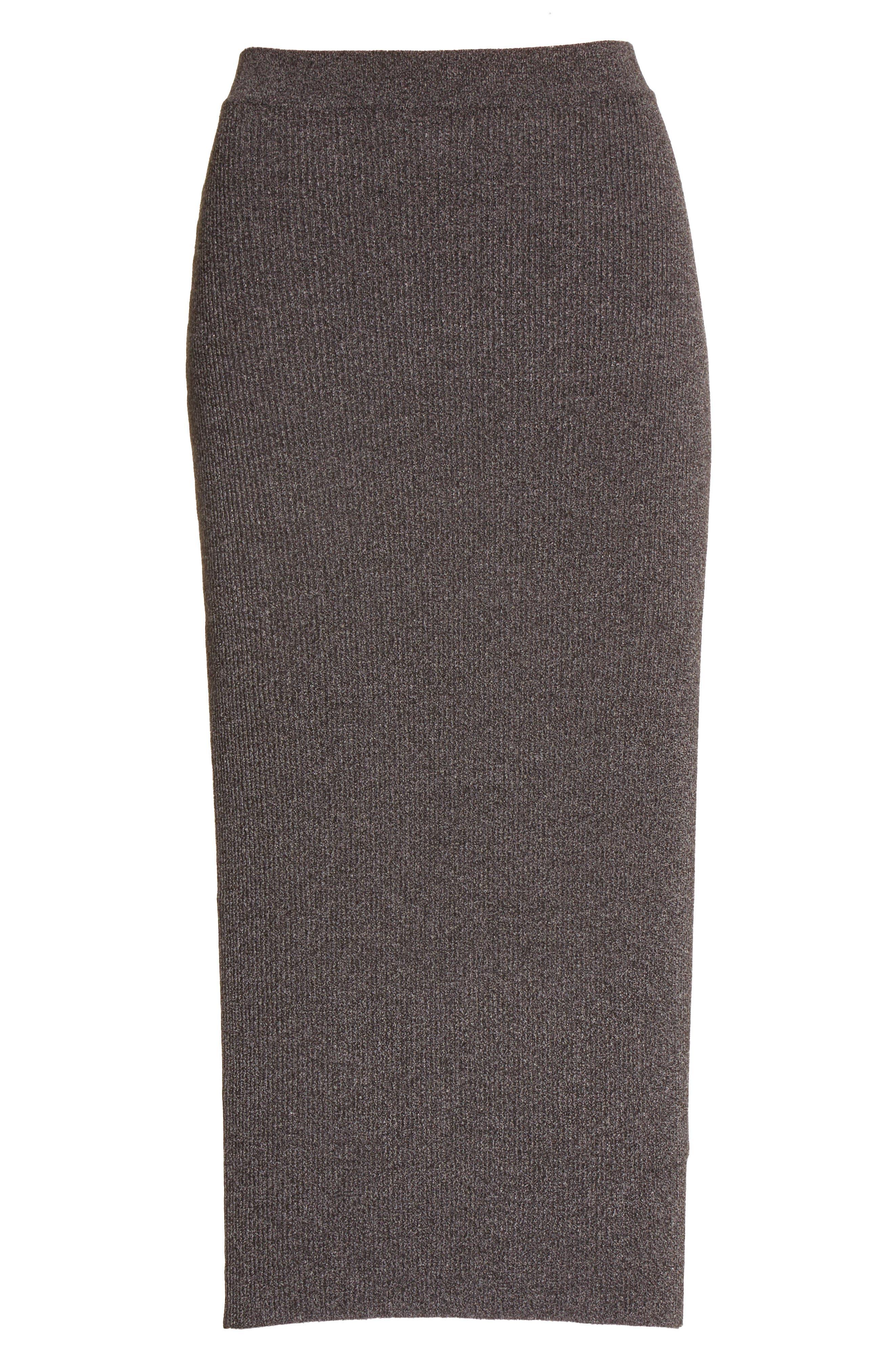 Alternate Image 4  - Armani Jeans Rib Knit Midi Skirt