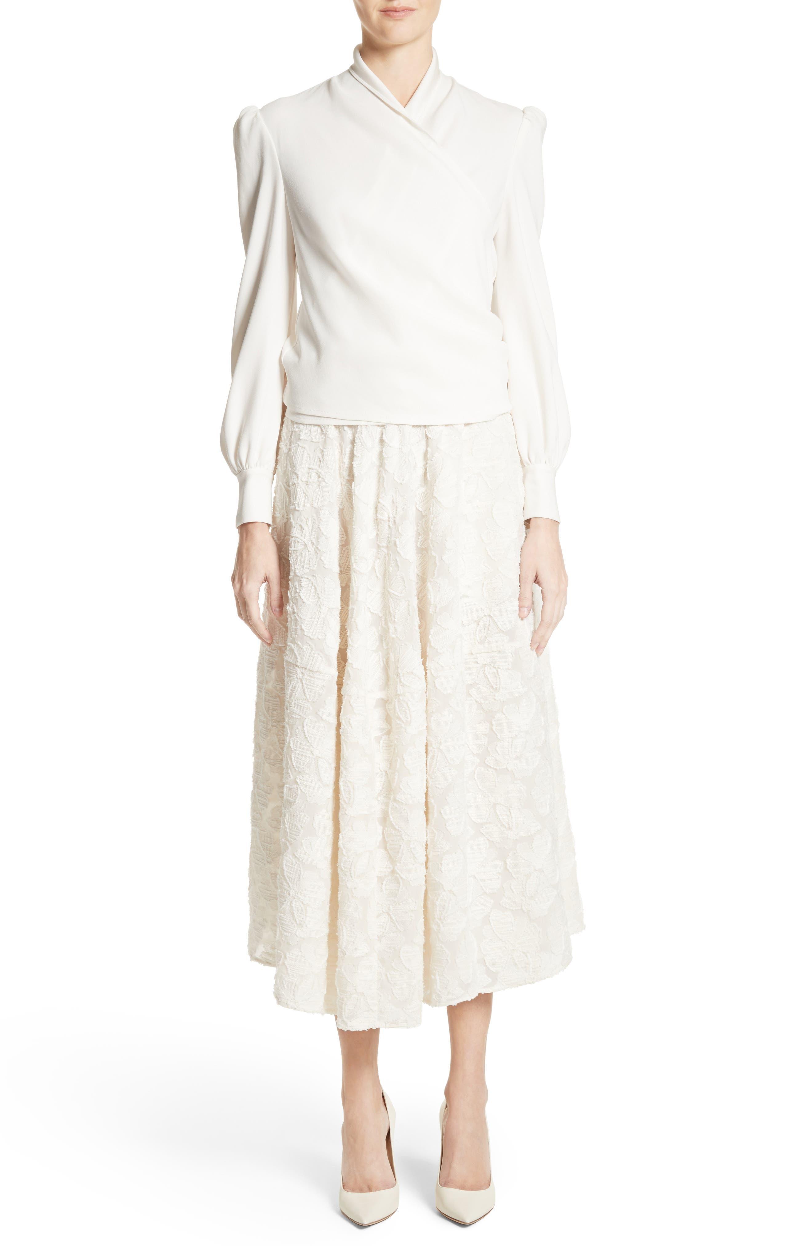 Alternate Image 7  - Co Pleated Fil Coupé Midi Skirt