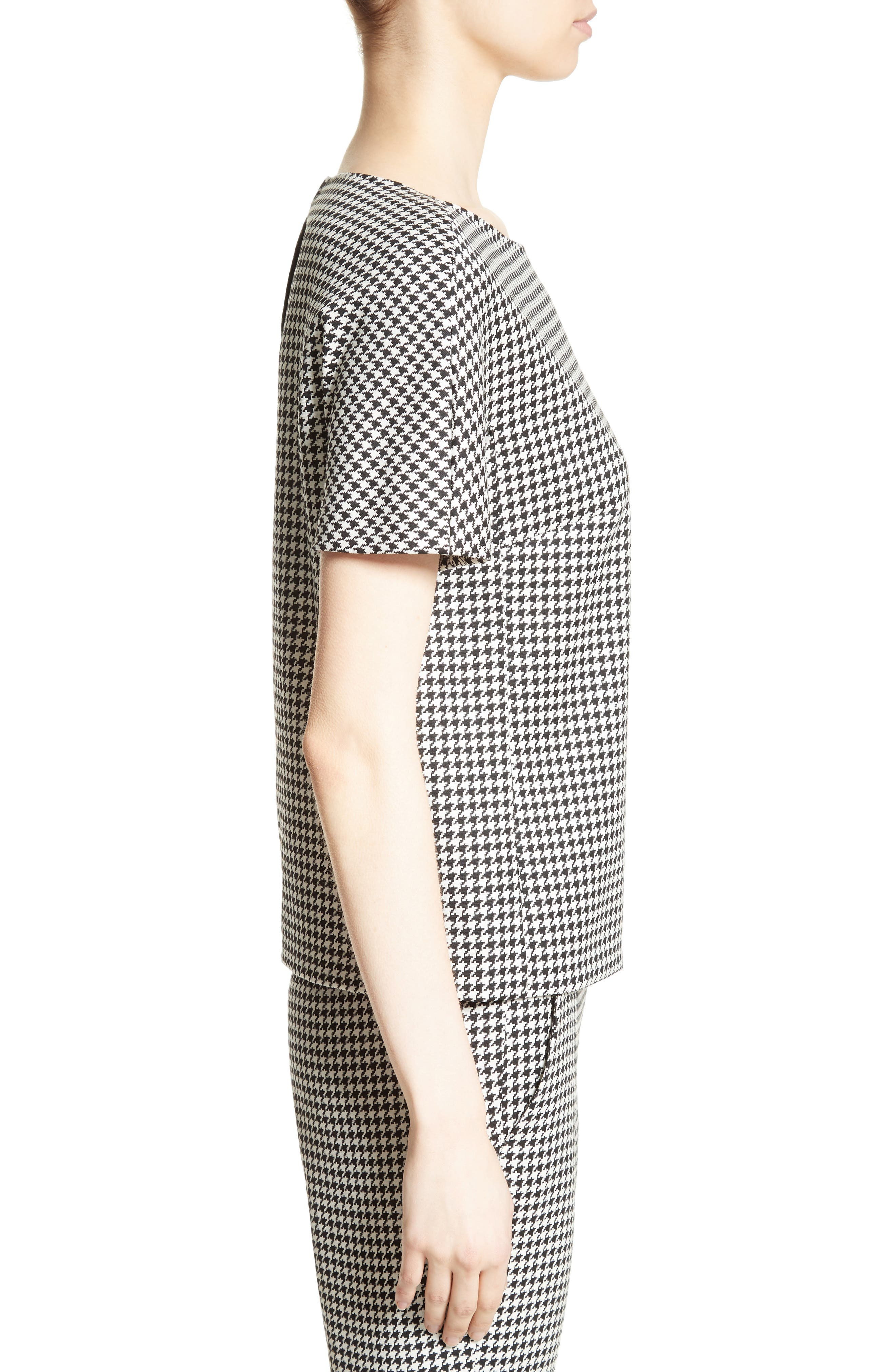 Alternate Image 5  - Max Mara Ares Wool Blend Houndstooth Top