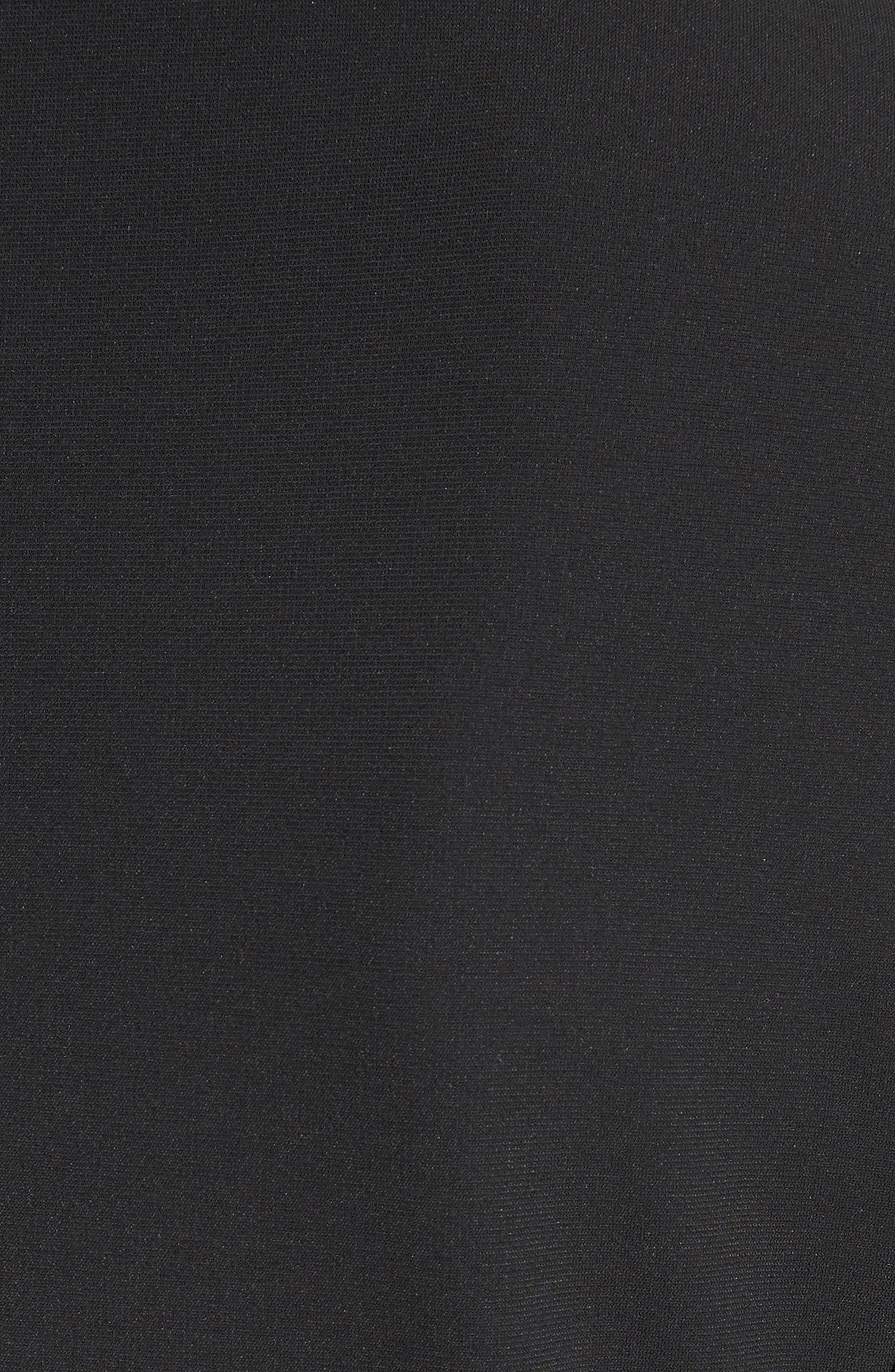 Bari Stretch Jersey Jacket,                             Alternate thumbnail 3, color,                             Black