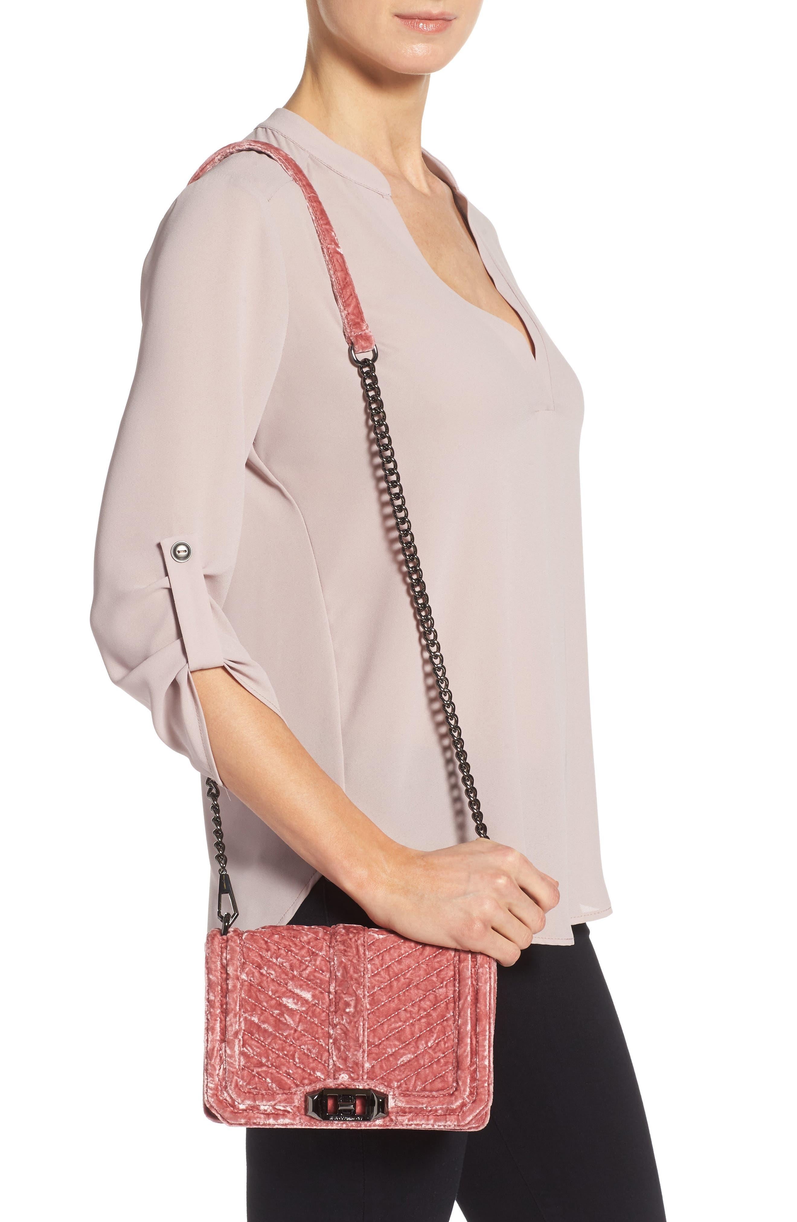 Alternate Image 2  - Rebecca Minkoff Small Love Velvet Crossbody Bag (Nordstrom Exclusive)