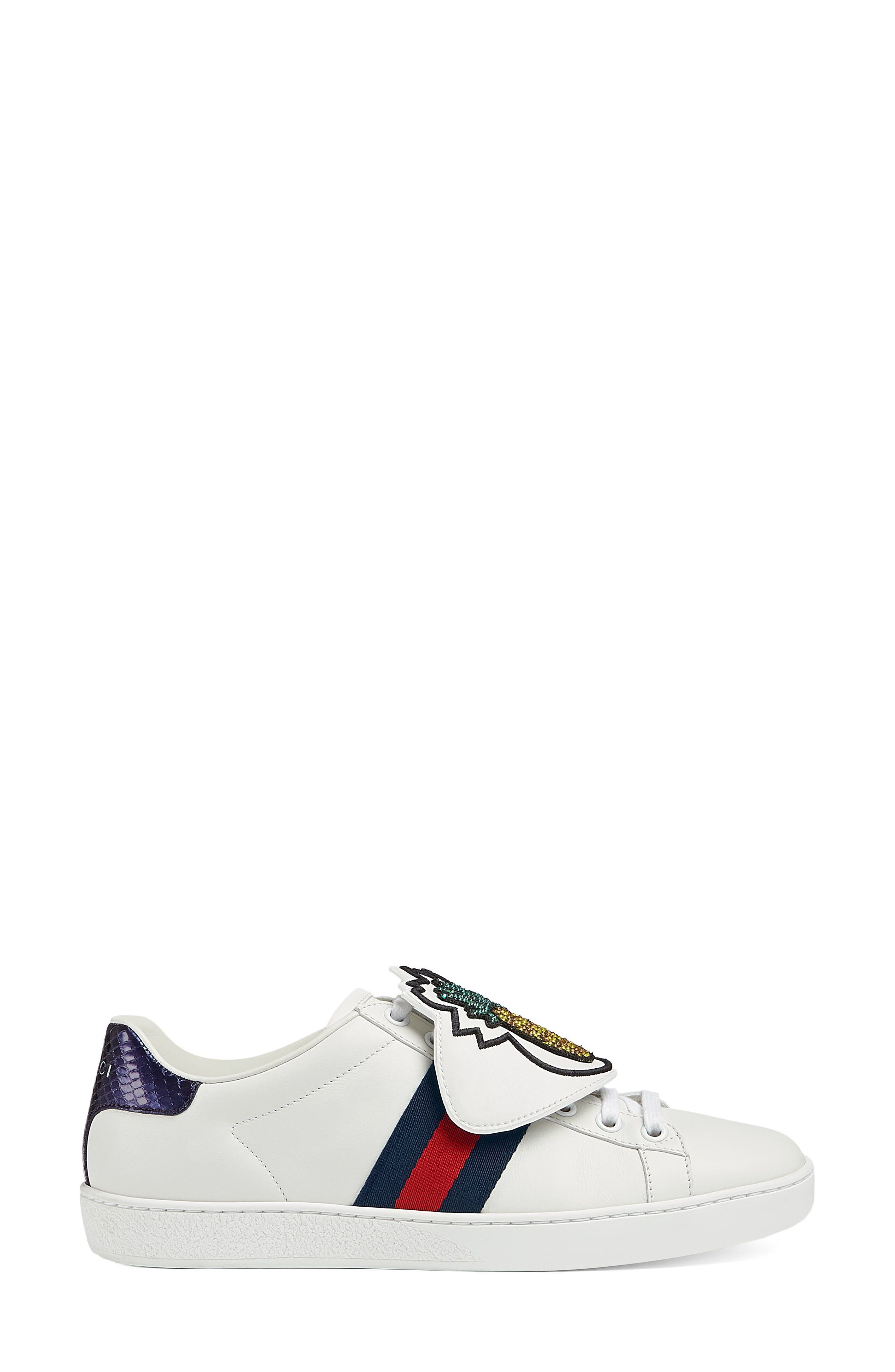 gucci shoes black and white. gucci new ace pineapple embroidered patch low top sneaker (women) shoes black and white
