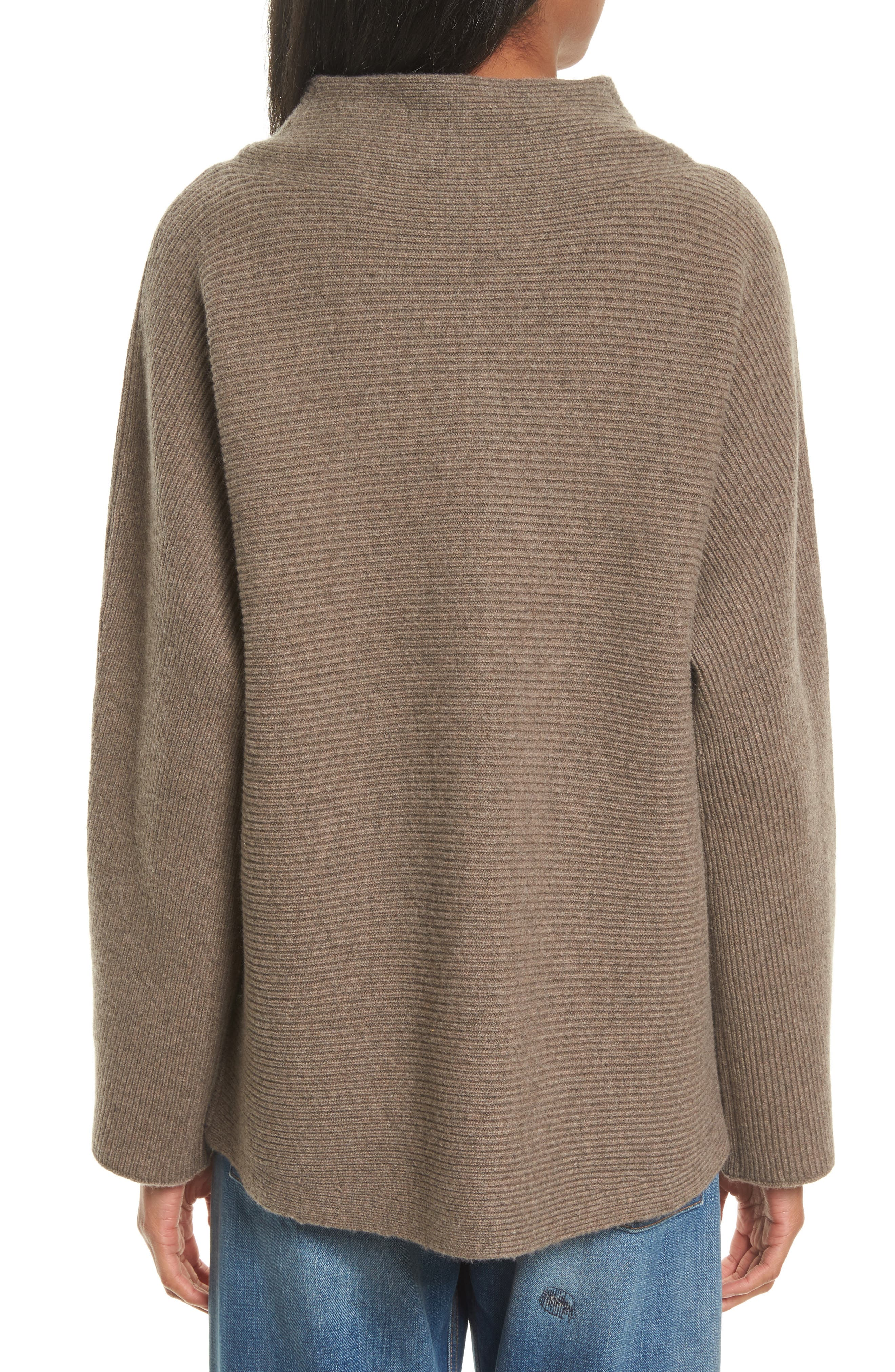 Alternate Image 2  - Vince Ribbed Wool & Cashmere Sweater